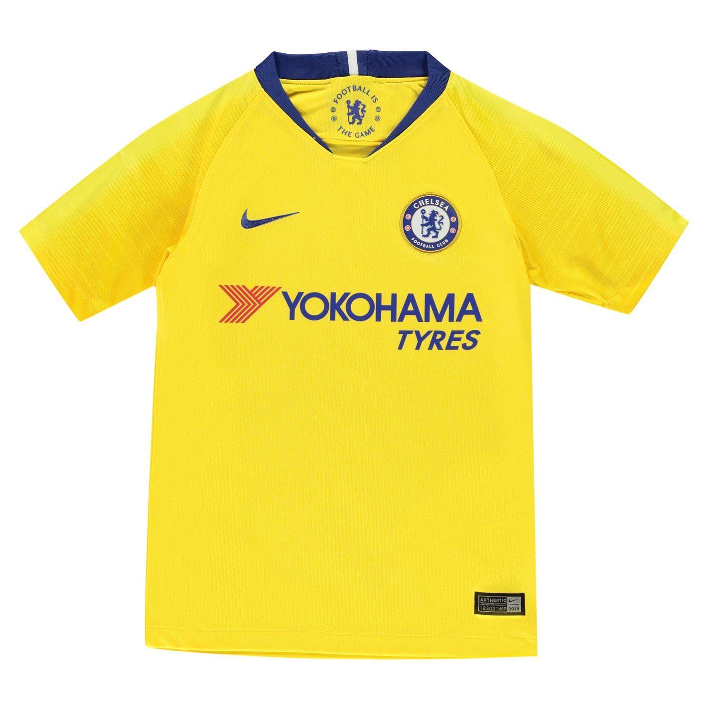 ccac95e70dc Details about Nike Chelsea Away Jersey 2018 2019 Juniors Yellow Football  Soccer Fan Shirt Top