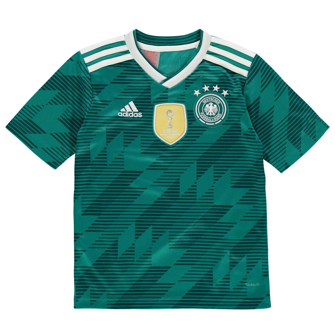 47a1d1f49d3 adidas Germany Away Jersey 2018 Juniors Green White Football Soccer Top  Shirt