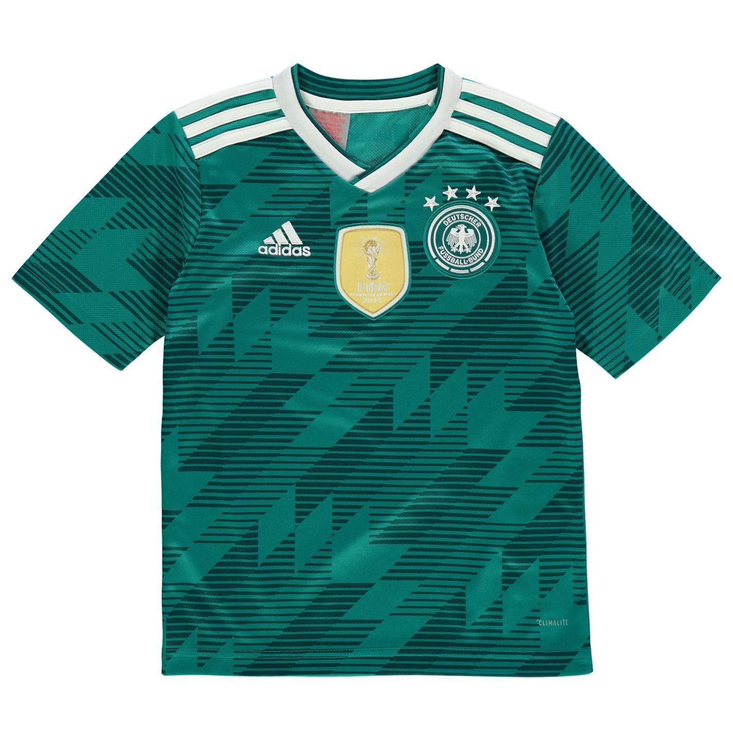 415111c4 ... Adidas Alemania lejos 2018 Juniors verde/blanco fútbol fútbol Top camisa  de Jersey ...