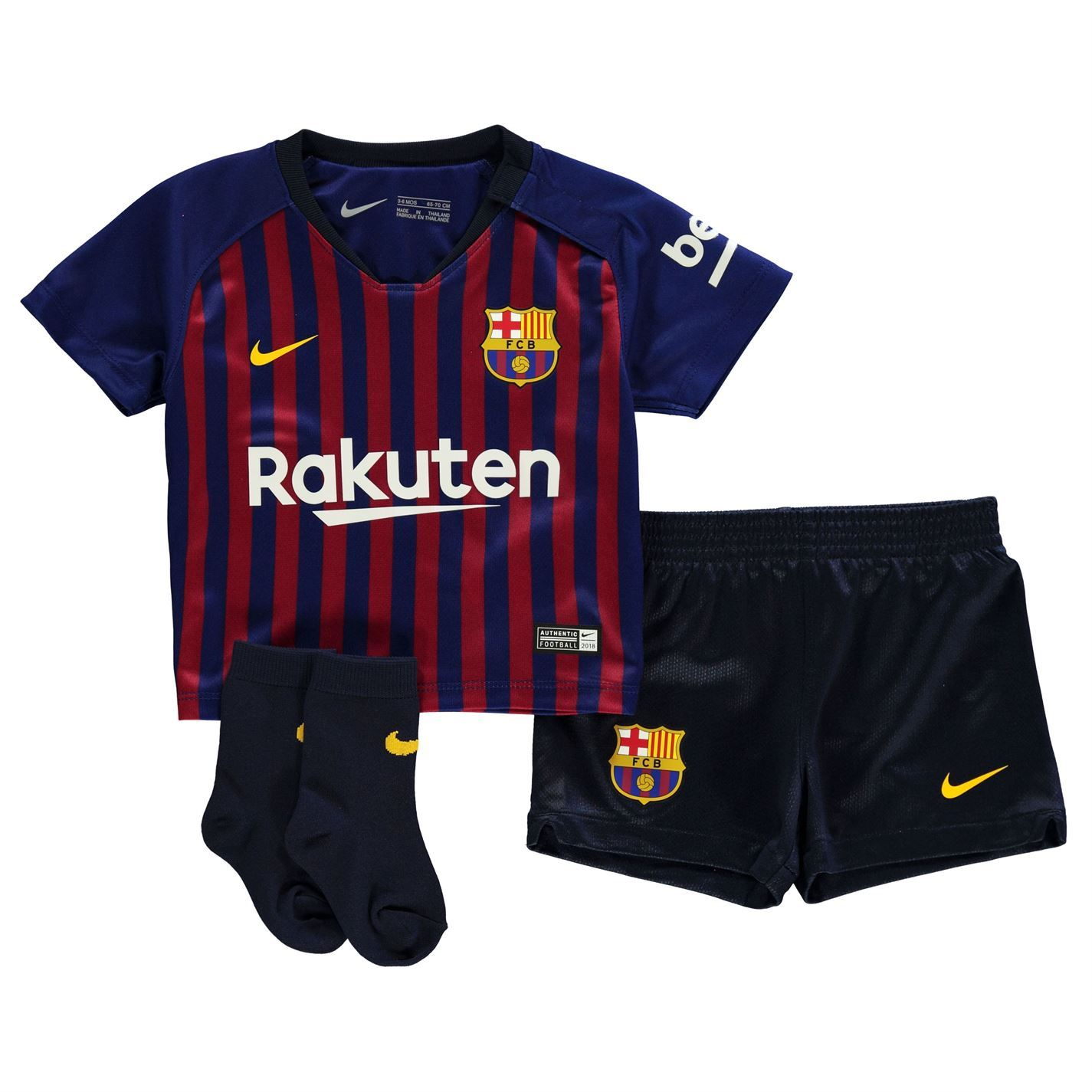 e04c4852e15 Nike Barcelona Home Baby Kit 2018 2019 Infants Blue Football Soccer Strip