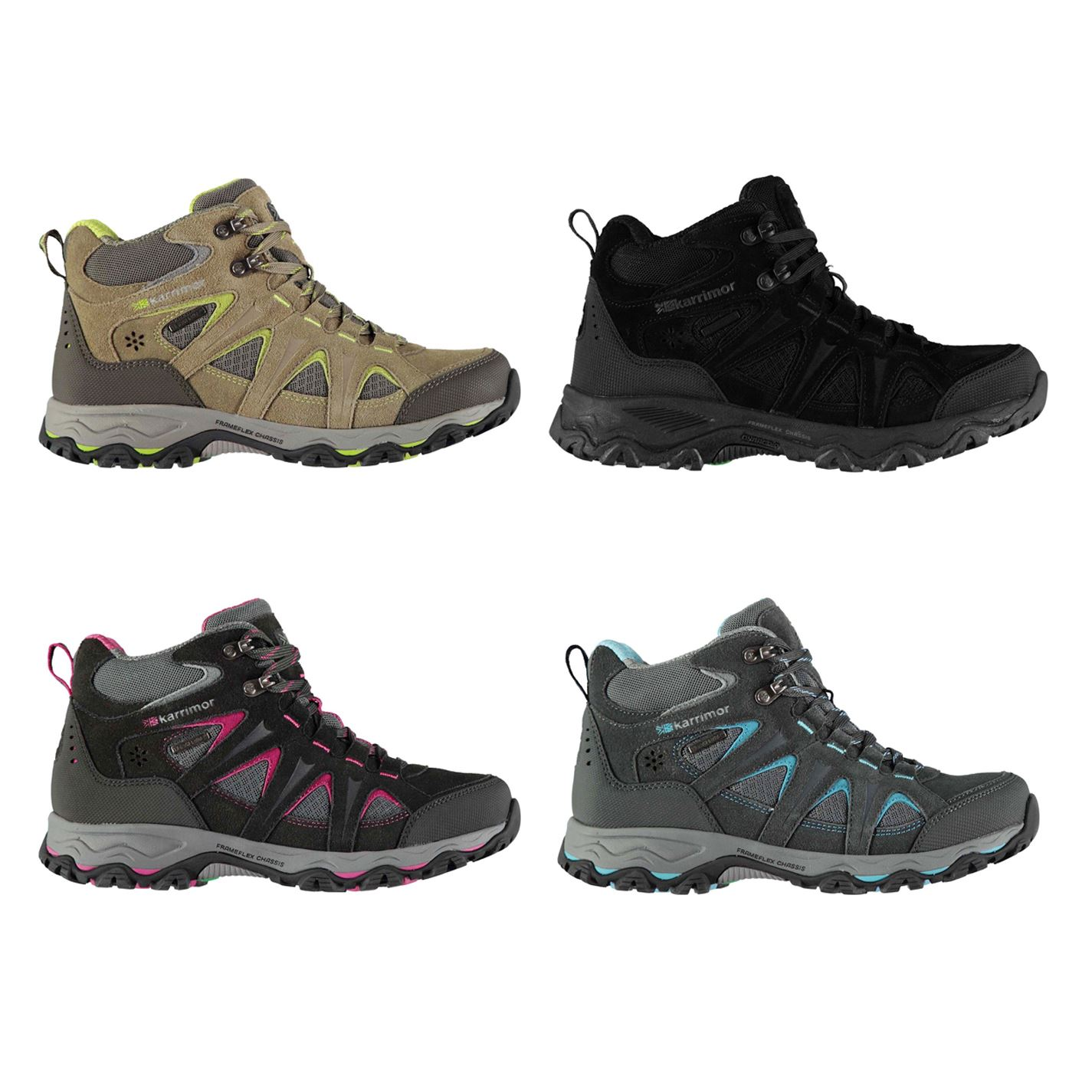 5ea23b00a7a Details about Karrimor Mountain WeatherTite Mid Walking Boots Womens Hiking  Trekking Shoes