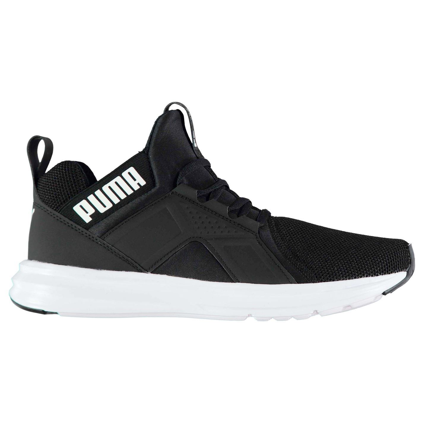 ... Puma Enzo Mesh Runners Trainers Mens Black Athletic Sneakers Shoes ... 685323e5e