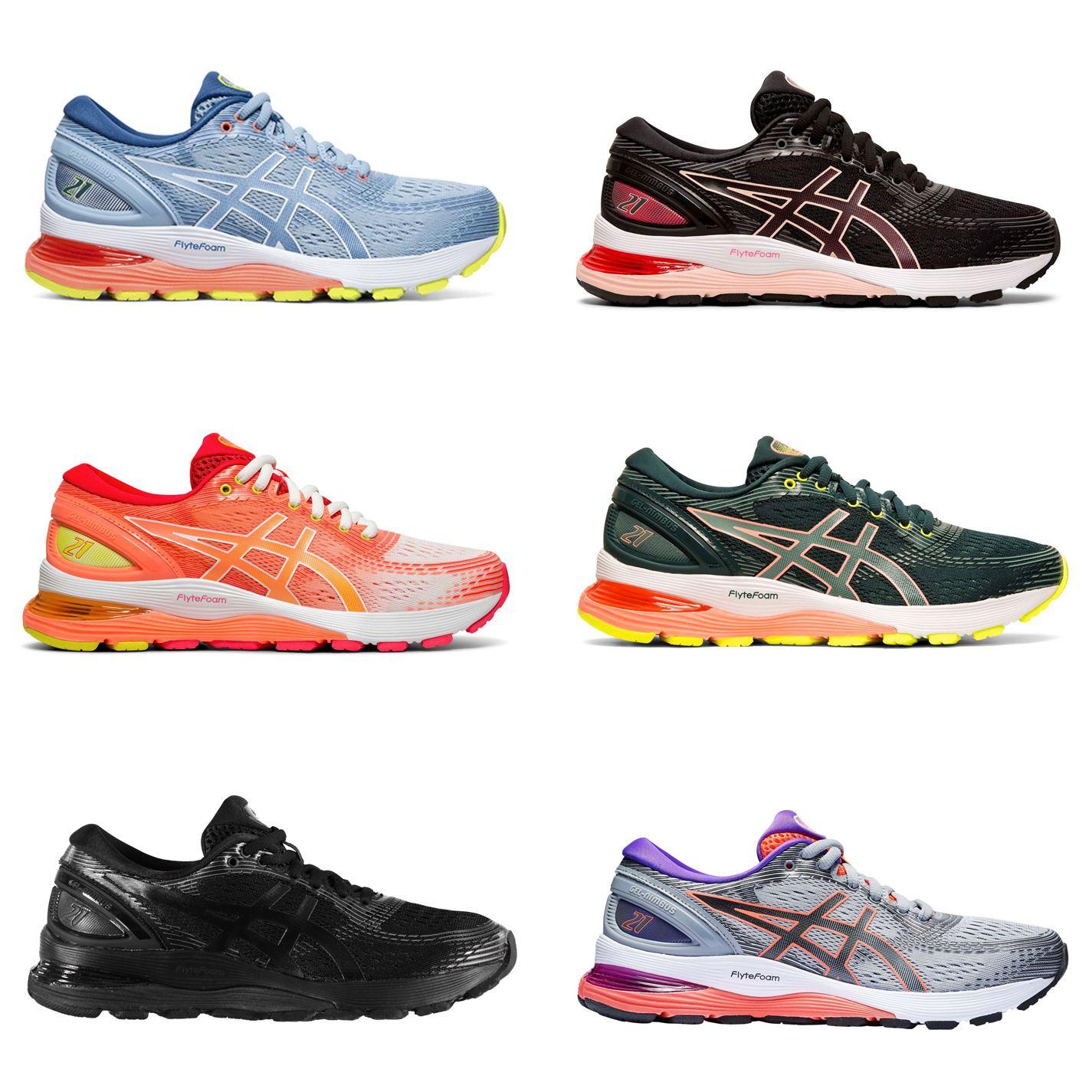 Detalles de Asics Gel Nimbus 21 Mujer Zapatillas Running Mujer Athleisure  Zapatillas