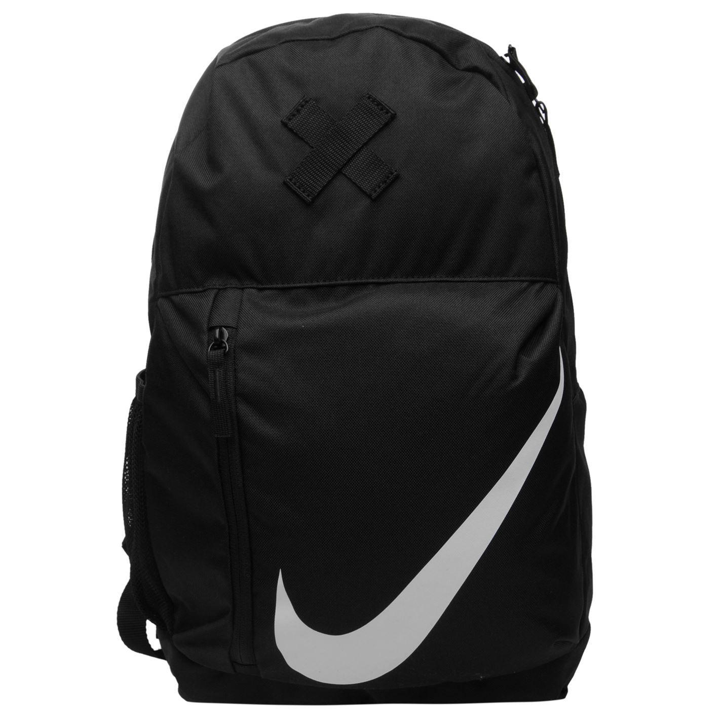 Nike Elemental Backpack Black White Sports Gym Bag Rucksack Carryall ... 5a3e81435bbba