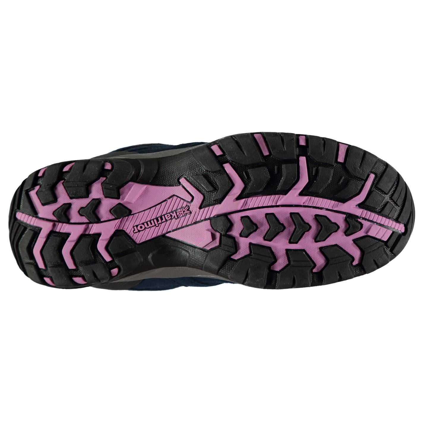088cd8e1137 Details about Karrimor Mount Mid Waterproof Walking Boots Juniors Girls  Navy/Pink Hiking Shoes