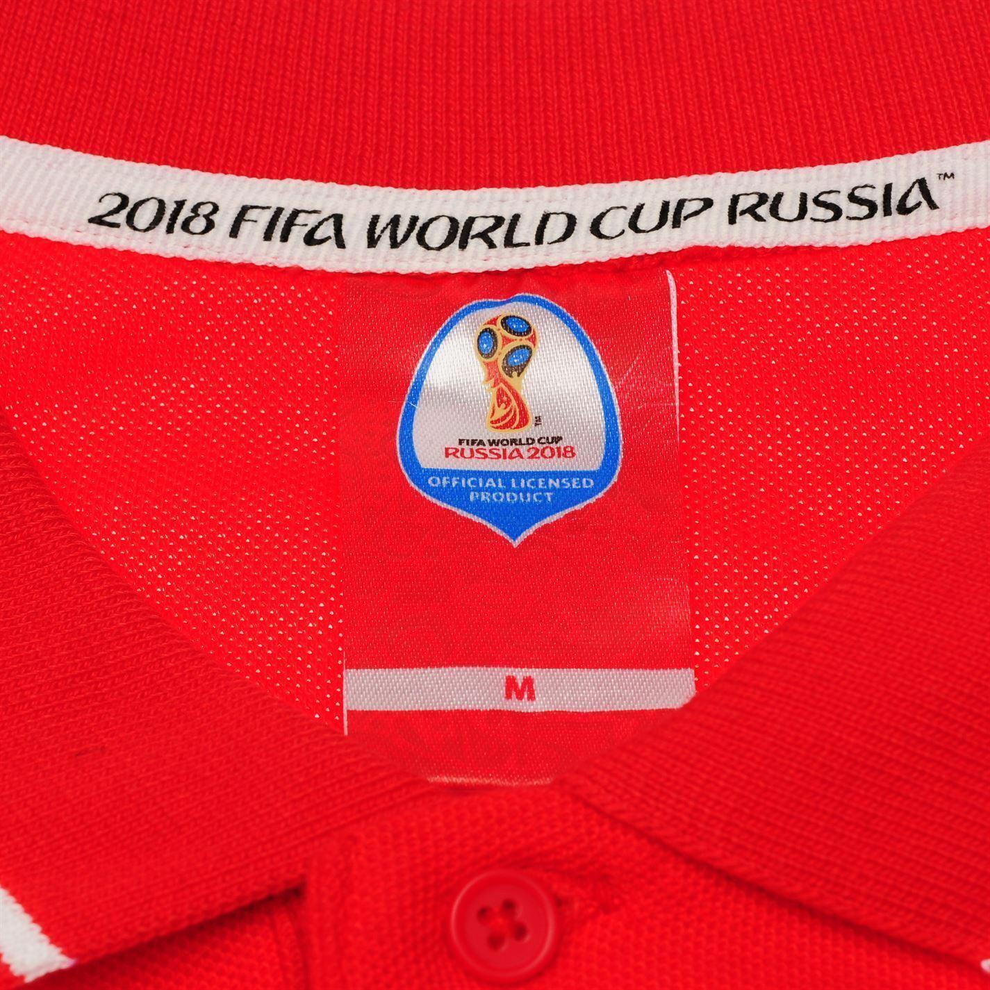 miniature 7 - FIFA Coupe du monde 2018 Angleterre Polo Shirt Homme Football Soccer Top T-Shirt Tee