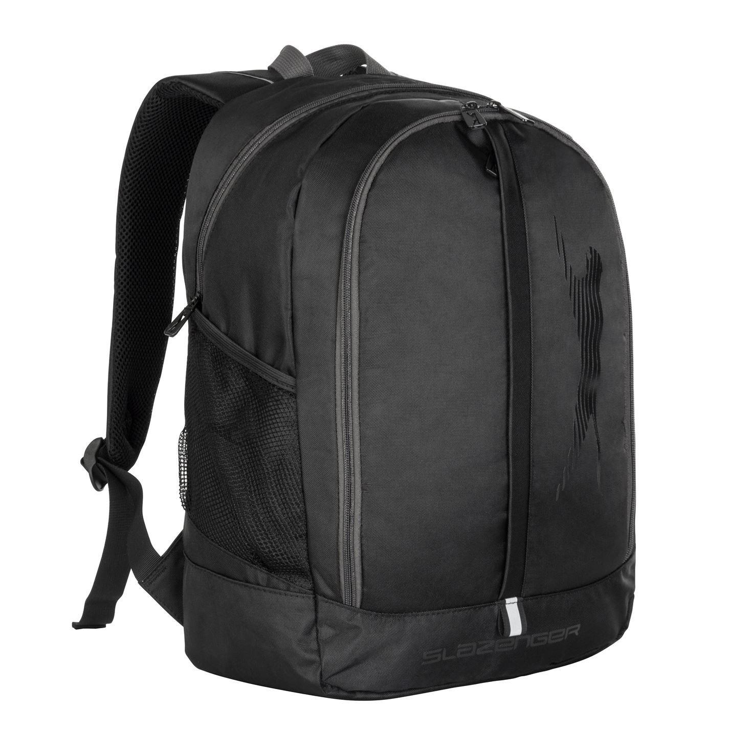 Slazenger Ace Sports Backpack Black Bag Gymbag Rucksack