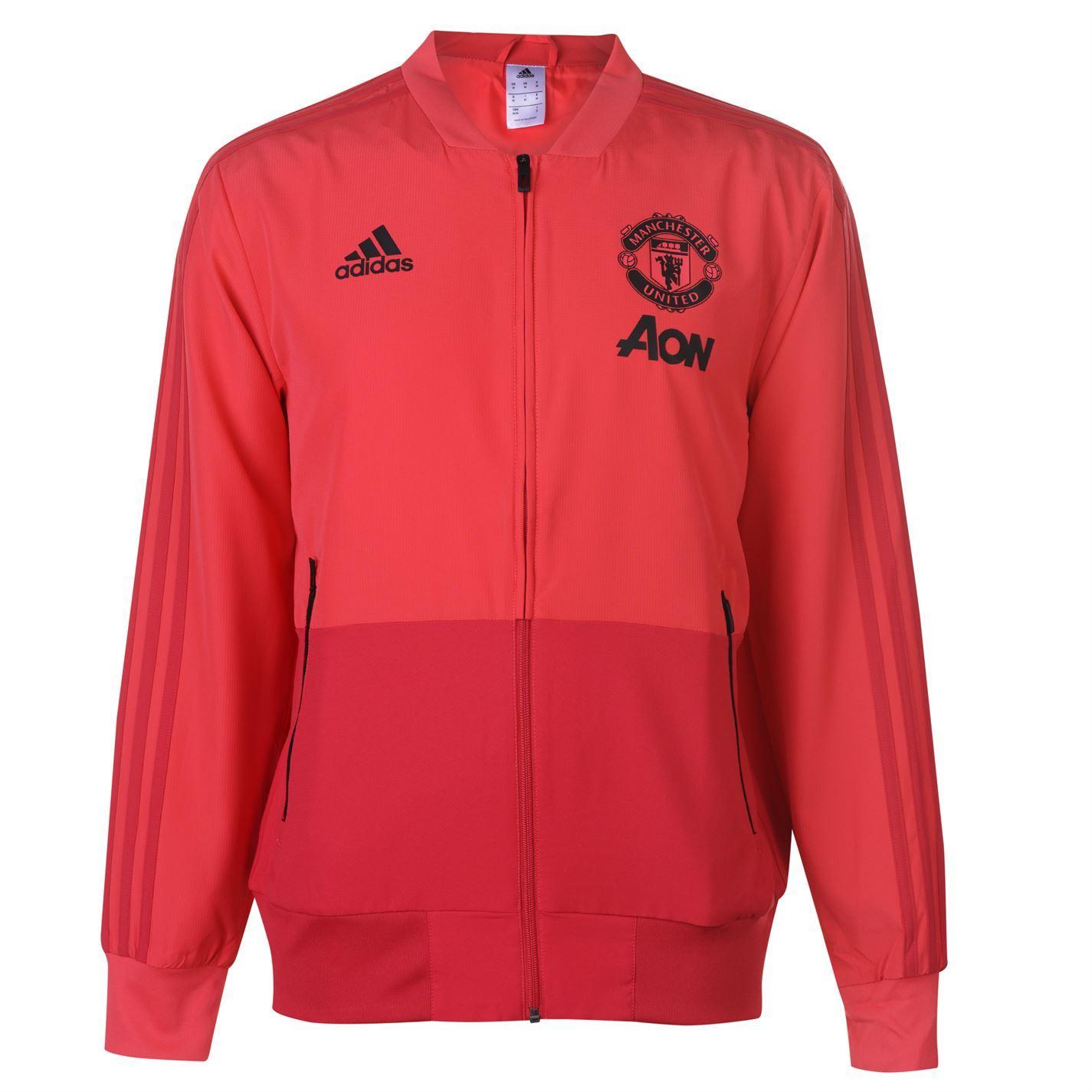 3eb5e84f1 adidas Manchester United Pre Match Jacket 2018 19 Mens Football ...