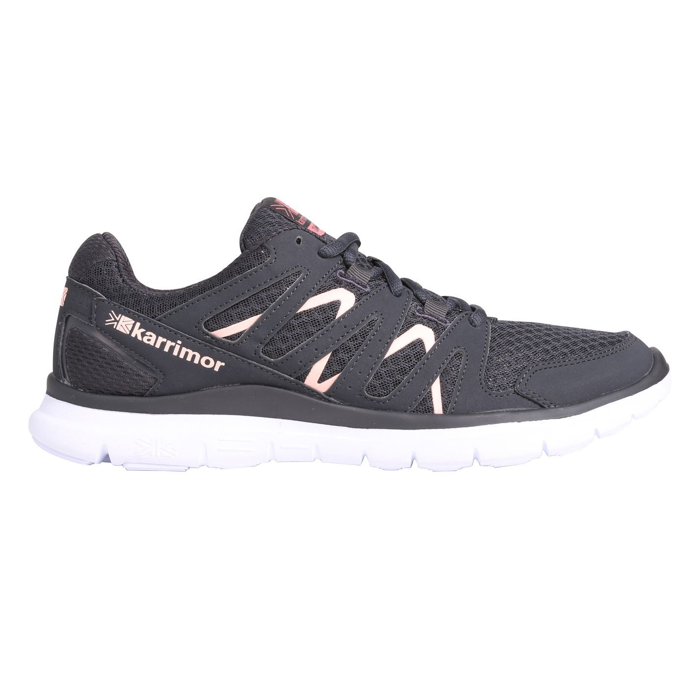 b05fbed29 ... Karrimor Duma Running Shoes Womens Charcoal Coral Run Jogging Trainers  Sneakers ...