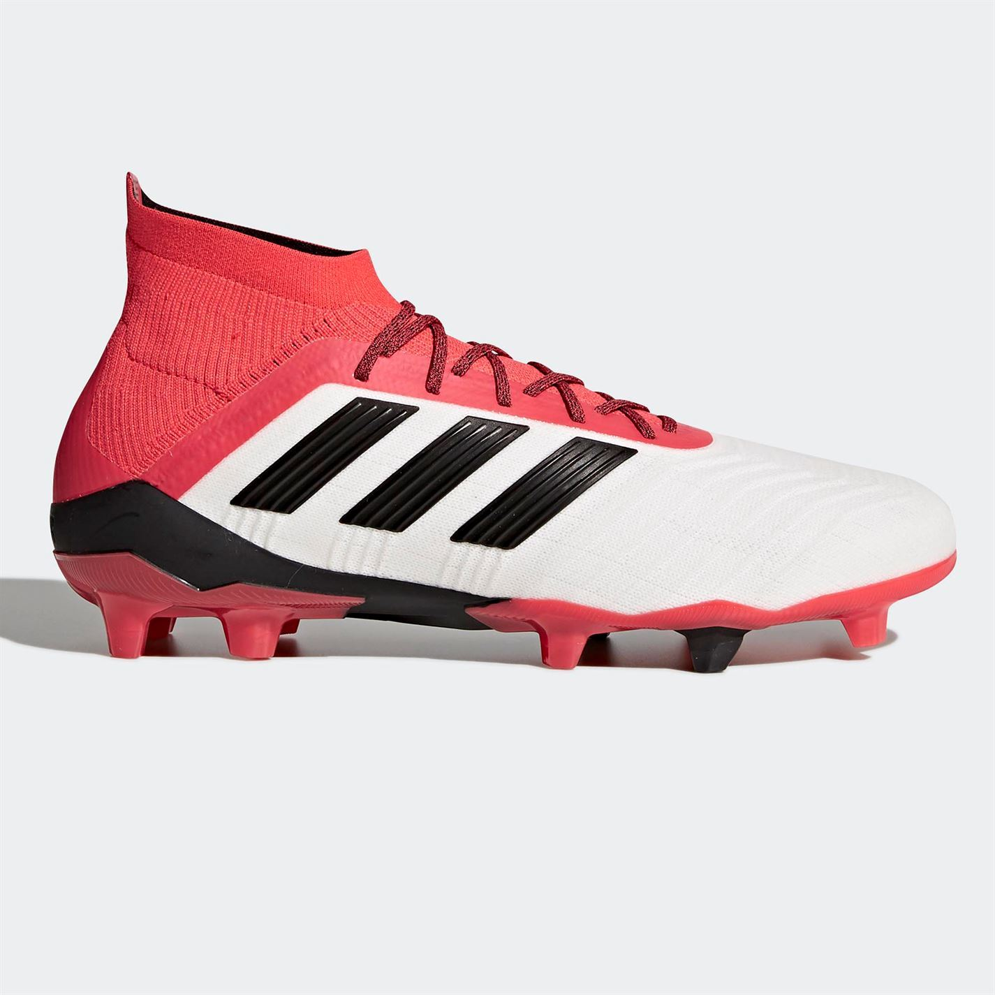 new arrival 0e085 49638 ... adidas Predator 18.1 Firm Ground Football Boots Mens White Red Soccer  Cleats ...