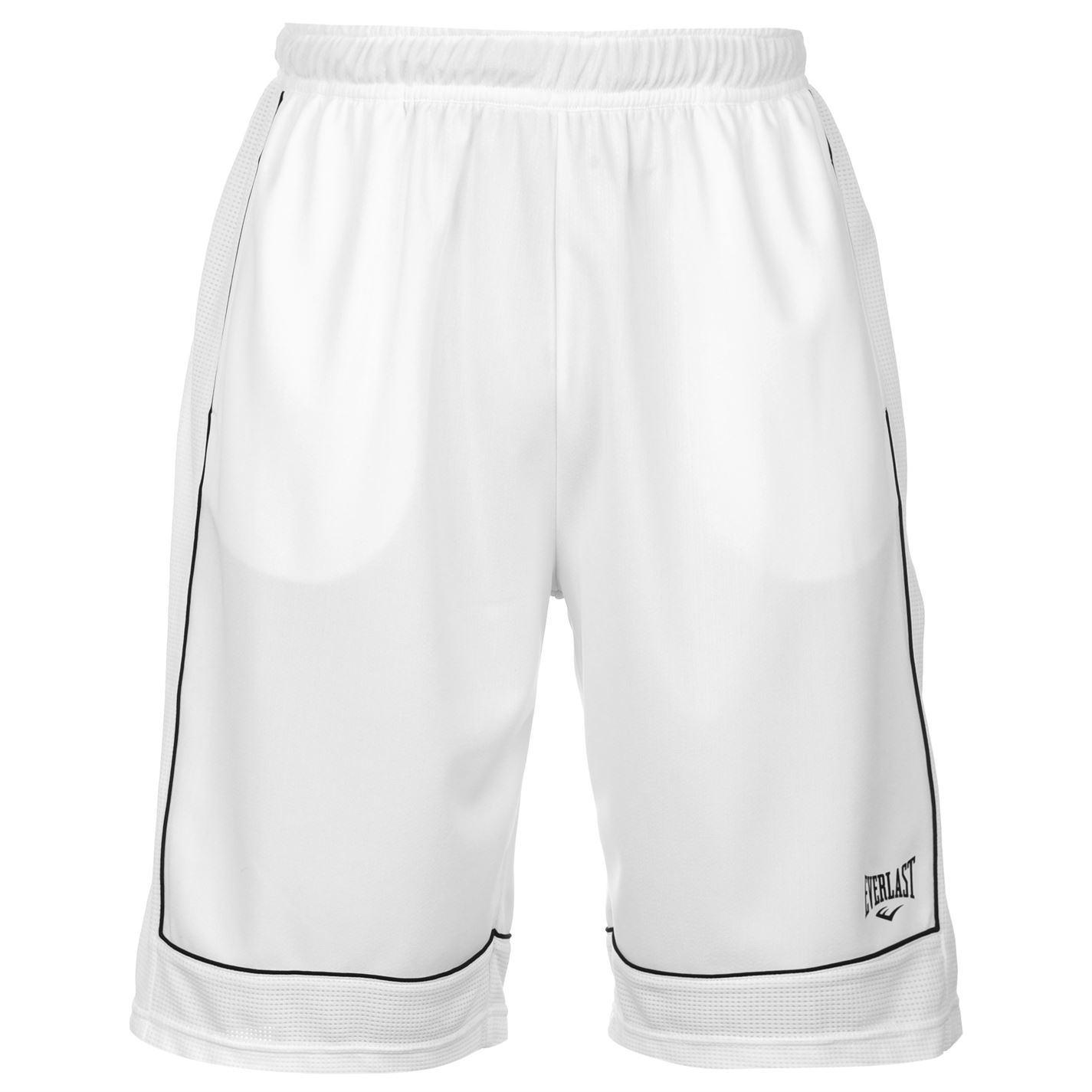 Everlast Basketball Shorts Mens White Black Sportswear Short Ebay