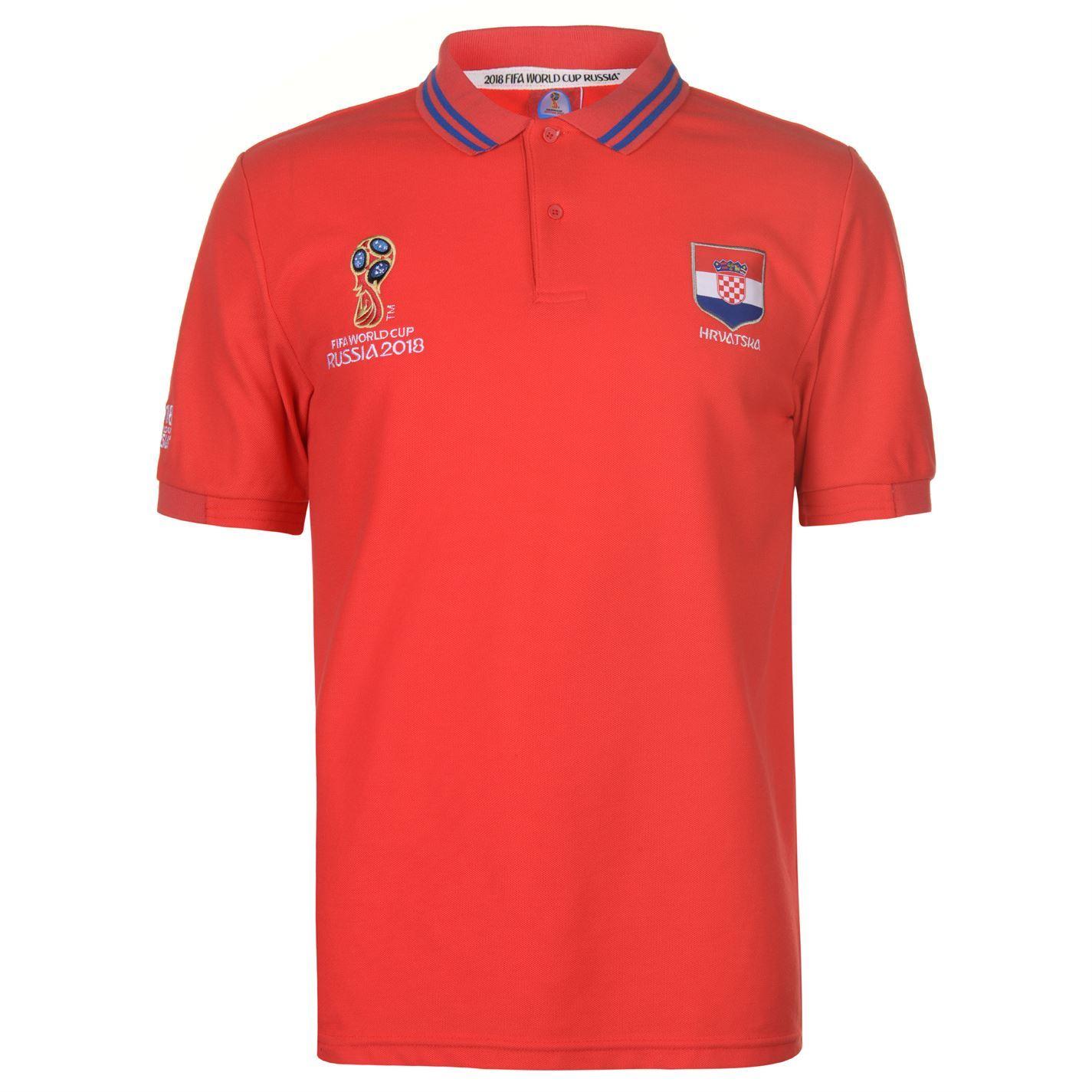 82417bddb ... FIFA World Cup 2018 Croatia Polo Shirt Mens Red Football Soccer Top T- Shirt ...