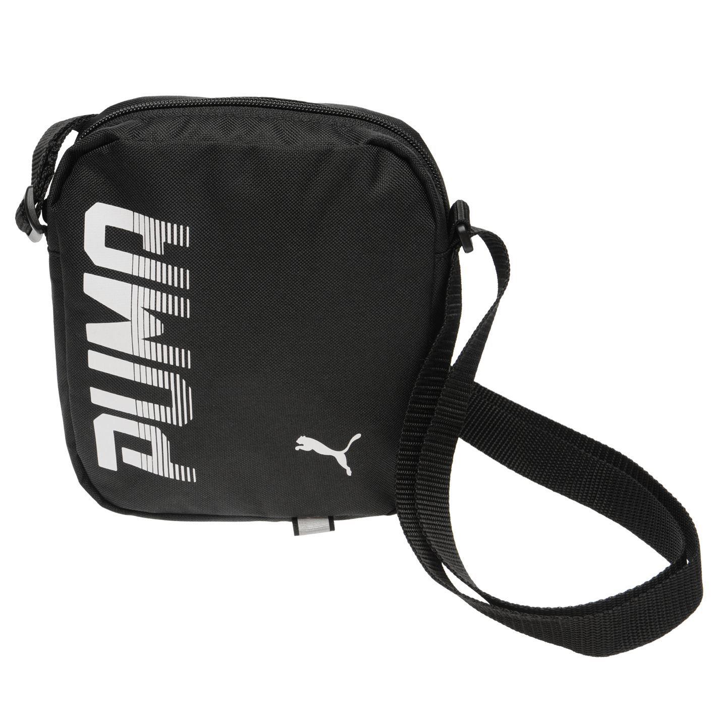 4b0fe1915a5 Puma Pioneer Portable Shoulder Bag Black Small Item Case Holdall   eBay