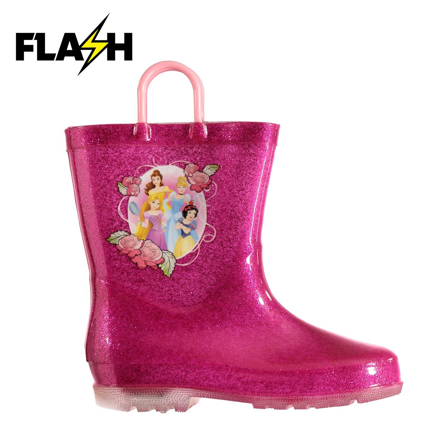 Girls Childrens Kids Infant Rose Pink Snow Rain Mud Boots with Touch Fastening
