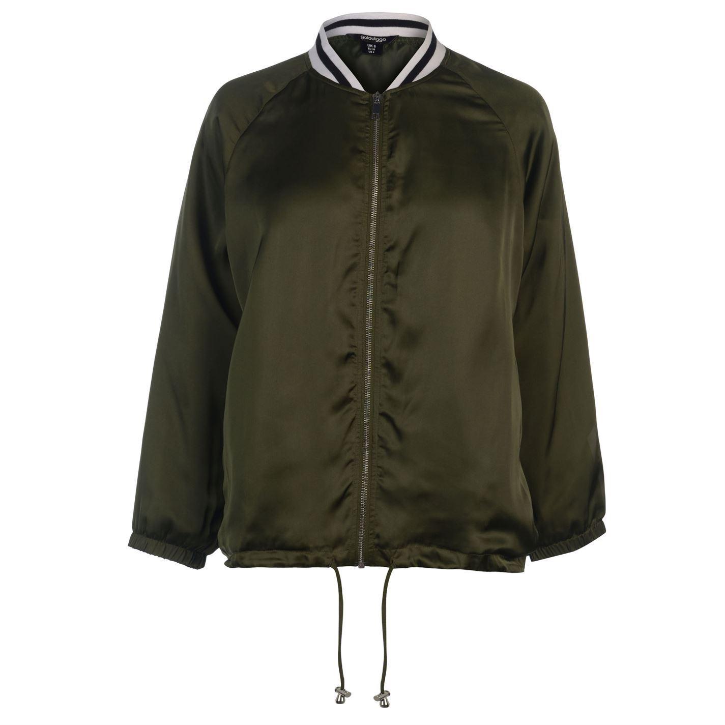Golddigga-Bomber-Jacket-Womens-Coats-Outerwear thumbnail 6