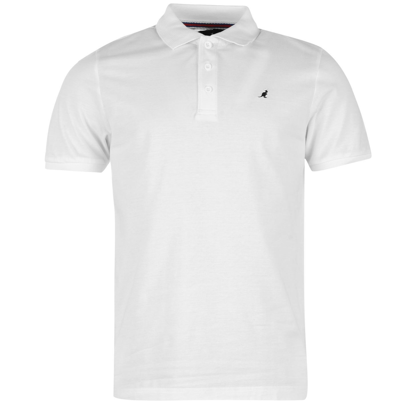 Details about Kangol Brit Fit Polo Shirt Mens White Collared T-Shirt Top Tee 794336c83