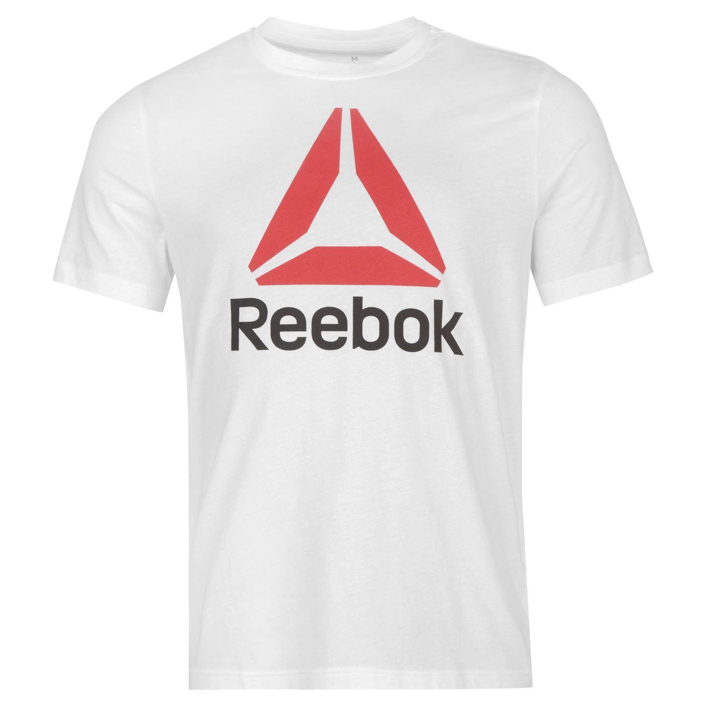 Reebok-Stack-Delta-Logo-T-Shirt-Mens-Tee-Shirt-Top thumbnail 26
