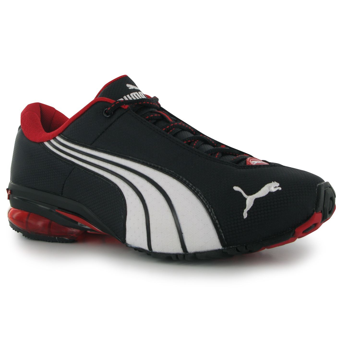 Puma Nylon Jago Nylon Puma hombres Zapatos Trainers Black/Red Zapatillas Sports Footwear 206ed7