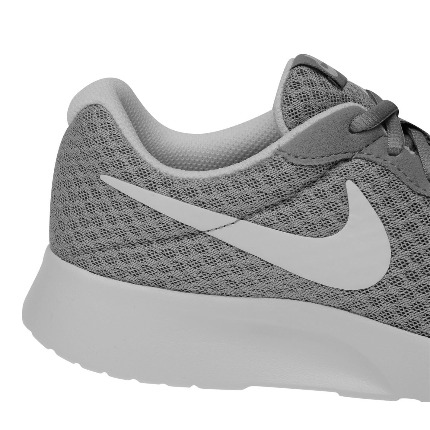 Nike Tanjun Training Shoes Womens Grey White Gym Fitness Trainers Sneakers 5c13770c667