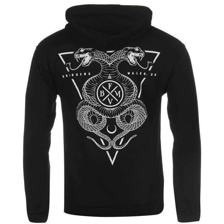 bullet for my valentine official snakes pullover hoody mens black hoodie sweater