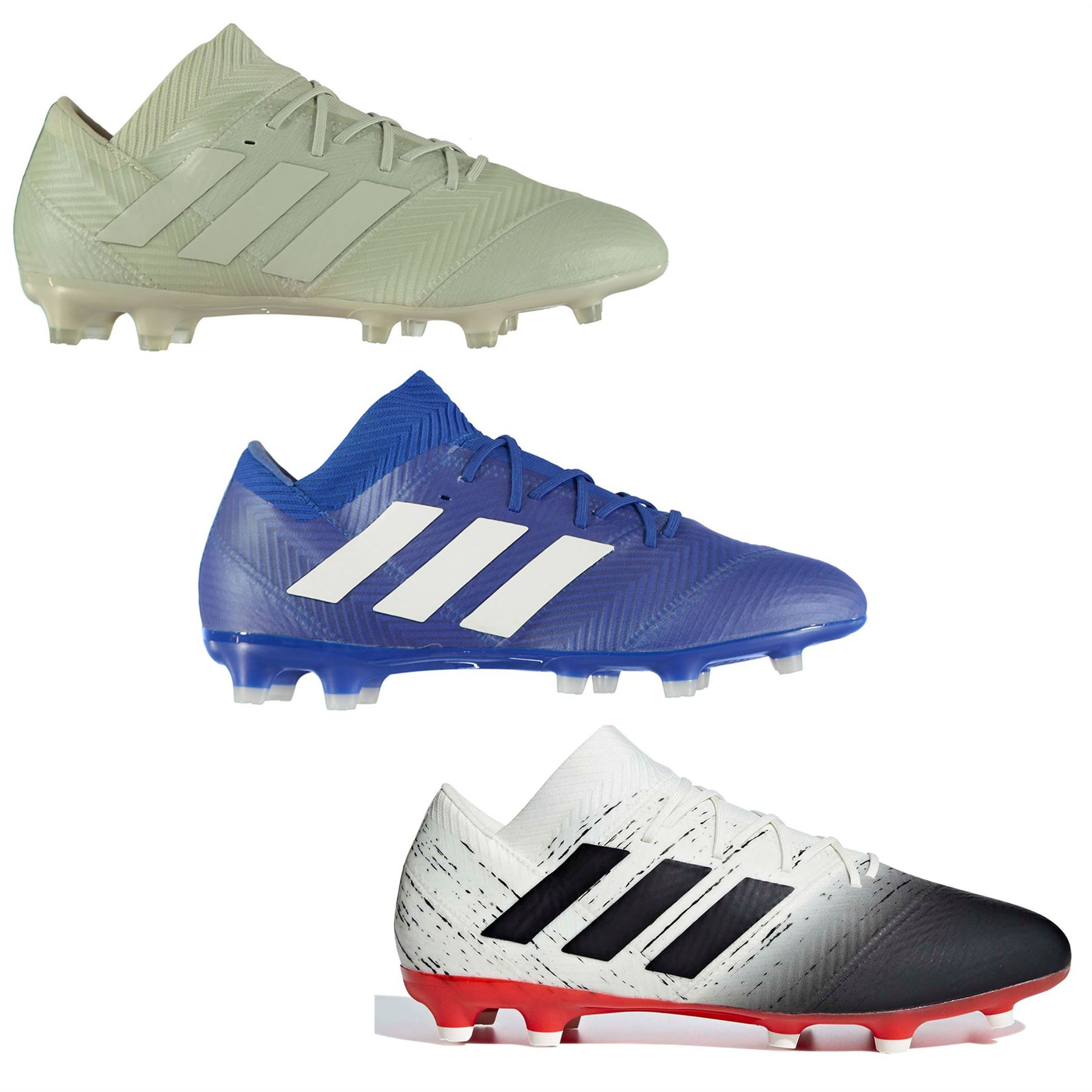 c8259bdd ... adidas Nemeziz 18.2 FG Firm Ground Football Boots Mens Soccer Shoes  Cleats ...
