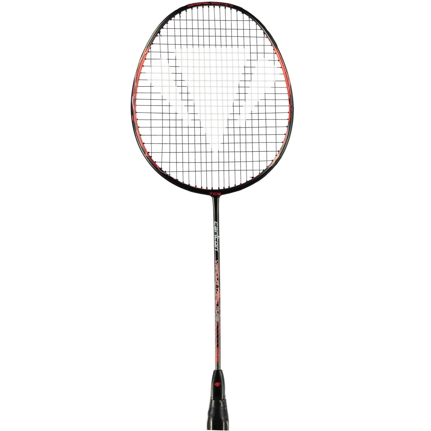 100% authentic bc098 0ad28 Carlton Vapour Trail Pure Badminton Racket Black Red Badminton Raquet