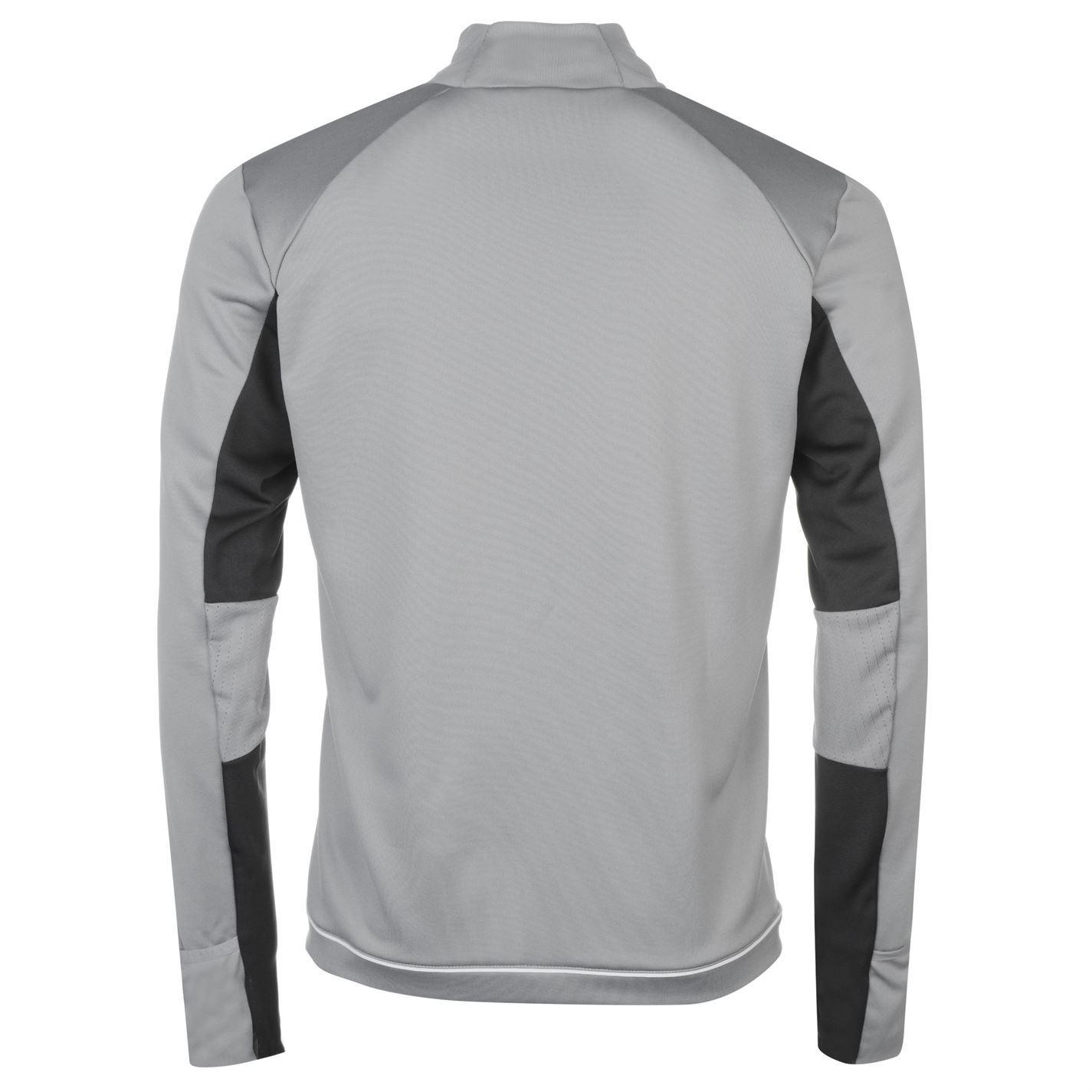 ... adidas Manchester United Training Sweatshirt Mens Grey White Football  Soccer Top ... 75ac1485e955