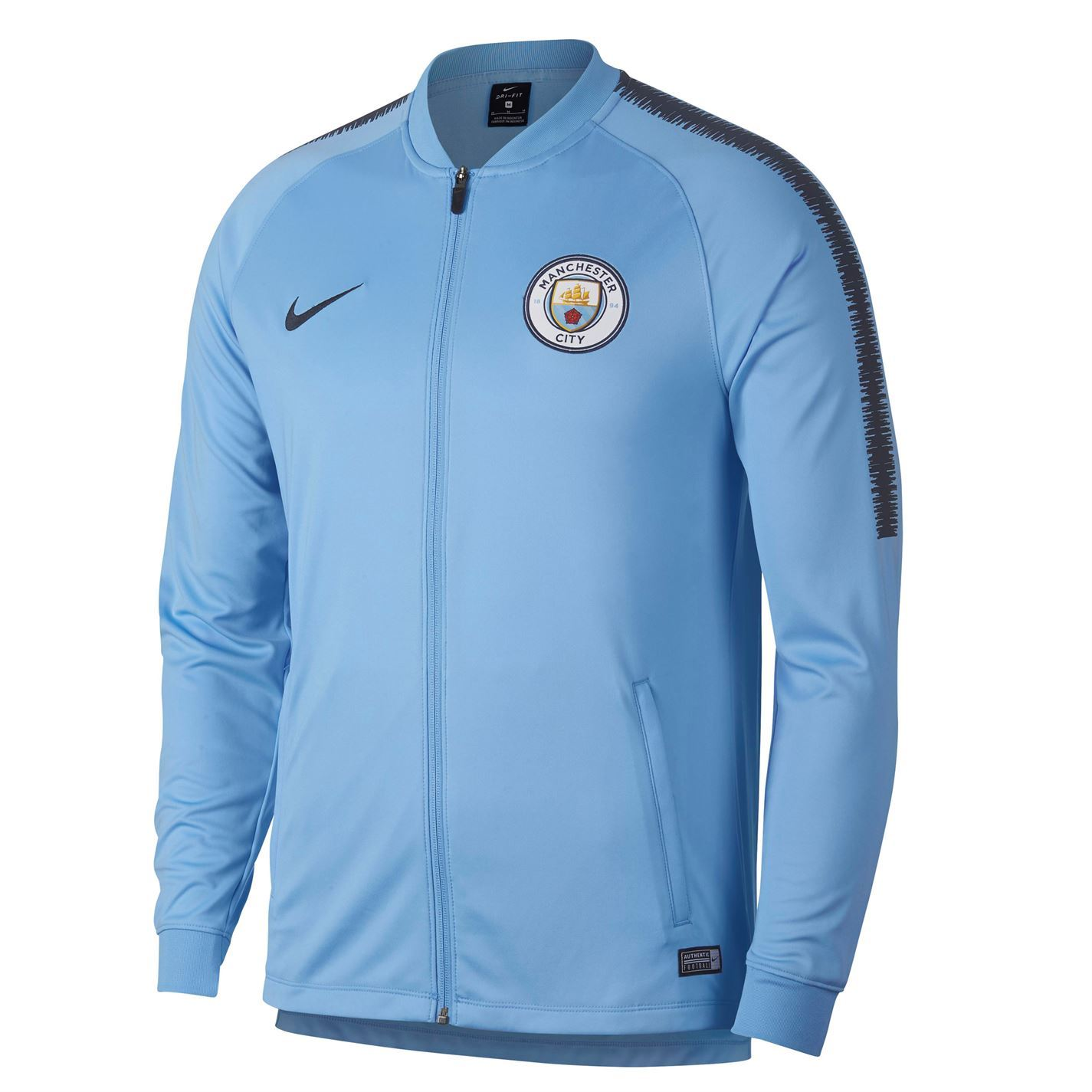 d8963dfac19 Nike Manchester City Track Jacket Mens Football Soccer Tracksuit Top