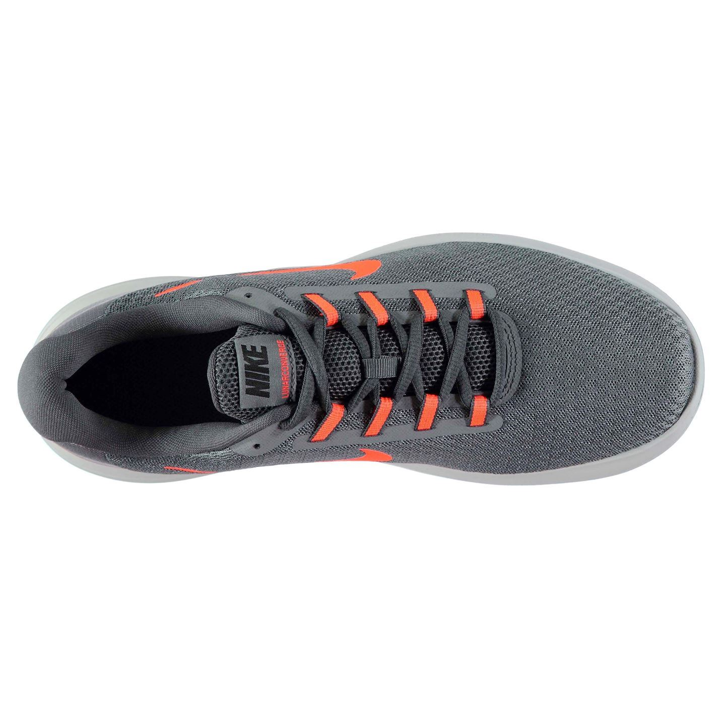 09759fb24fa64 ... Nike Lunarlon Converge Trainers Mens Grey Red Athletic Sneakers Shoes