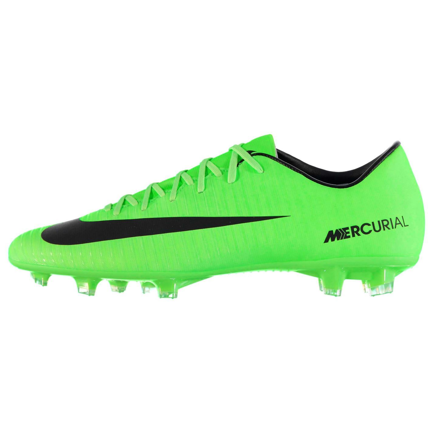 59a3922270e056 ... Nike Mercurial Victory FG Firm Ground Football Boots Mens Grn Blk  Soccer Shoes ...
