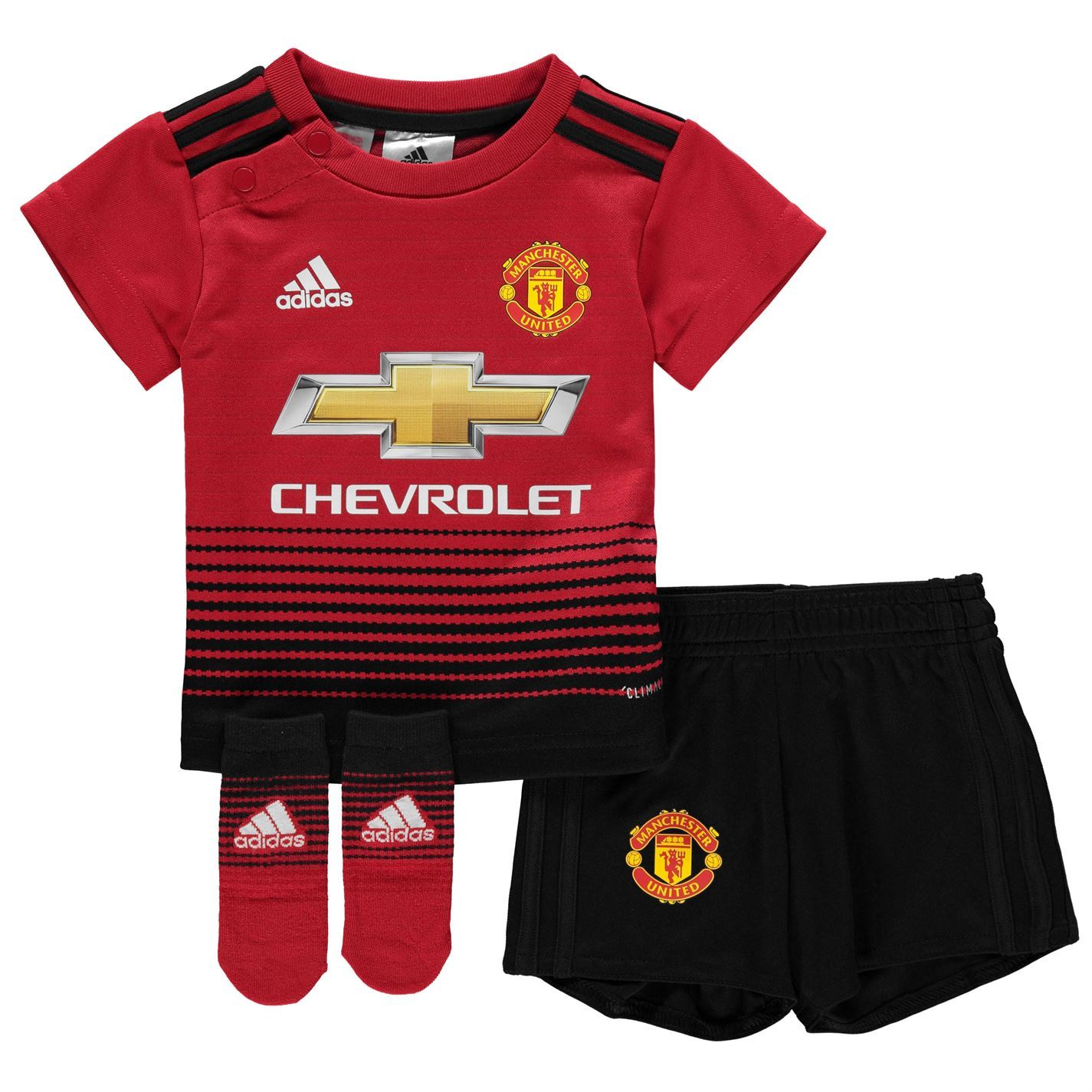19088592 ... adidas Manchester United Home Baby Kit 2018 19 Infants Red Football  Soccer Strip ...