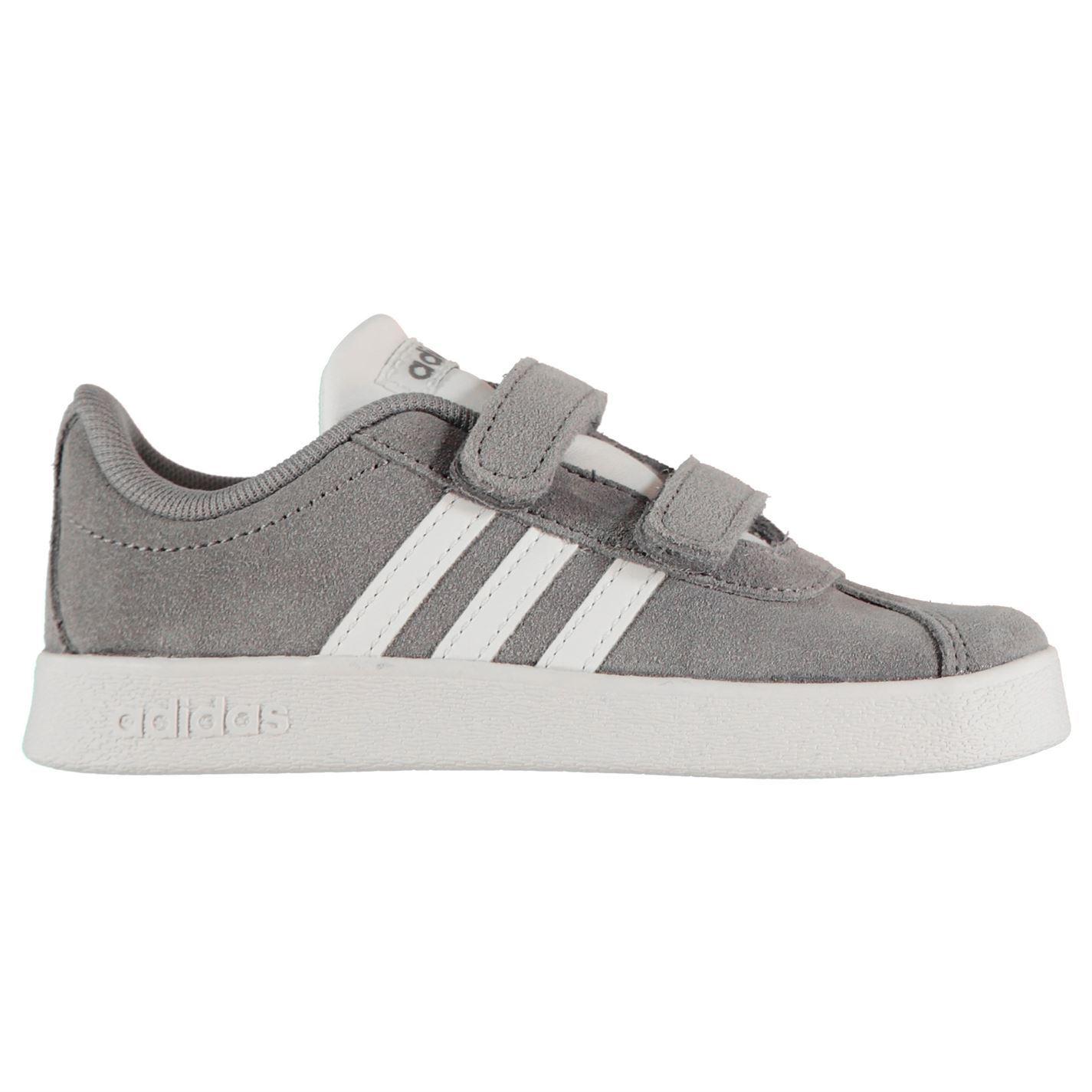 Détails sur Adidas Vl Escarpin Daim Baskets Enfant Garçon Chaussures Chaussures