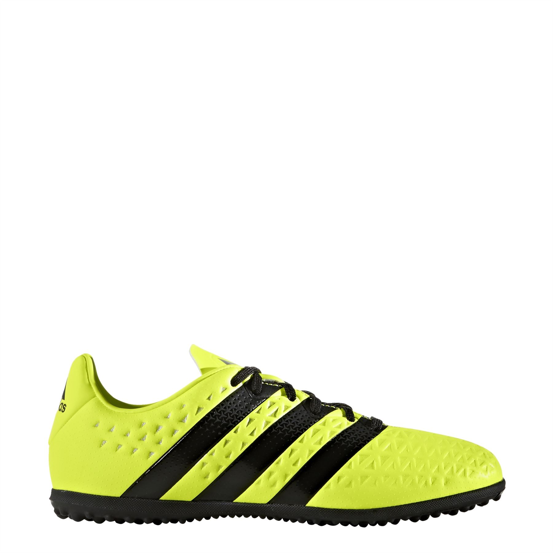 59cbc1c36ee93 adidas Ace 16.3 Astro Turf Football Trainers Juniors Yellow Black Soccer  Shoes