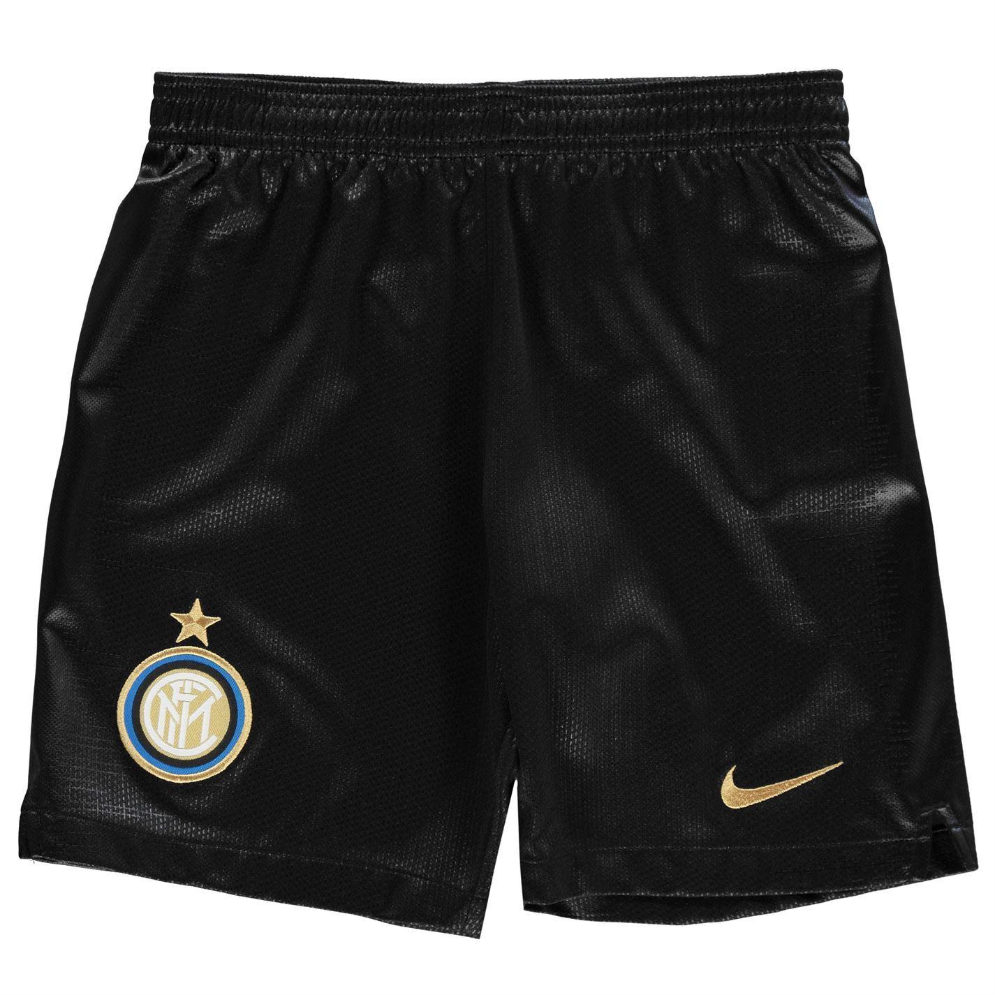 bc820d54b09f ... Nike Inter Milan Home Shorts 2018 2019 Juniors Black Football Soccer  Sportswear ...