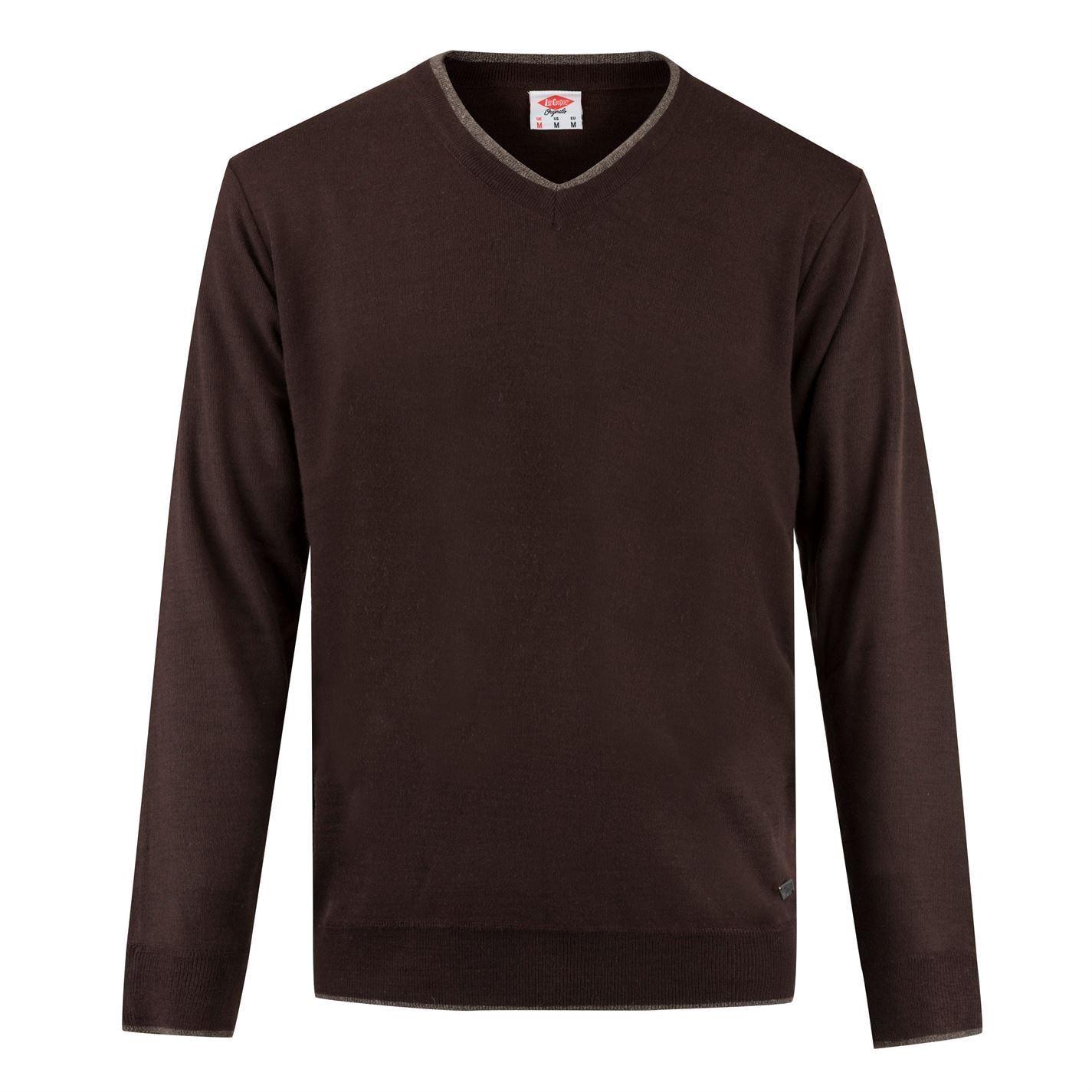 Lee-Cooper-Cuello-en-V-sueter-pulover-jumper-Top-Para-Hombre miniatura 3
