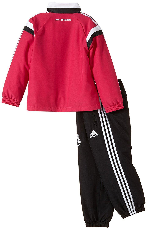 ... Adidas Real Madrid presentación Chandal Set bebés rosa negro fútbol b4e6153eeeffd