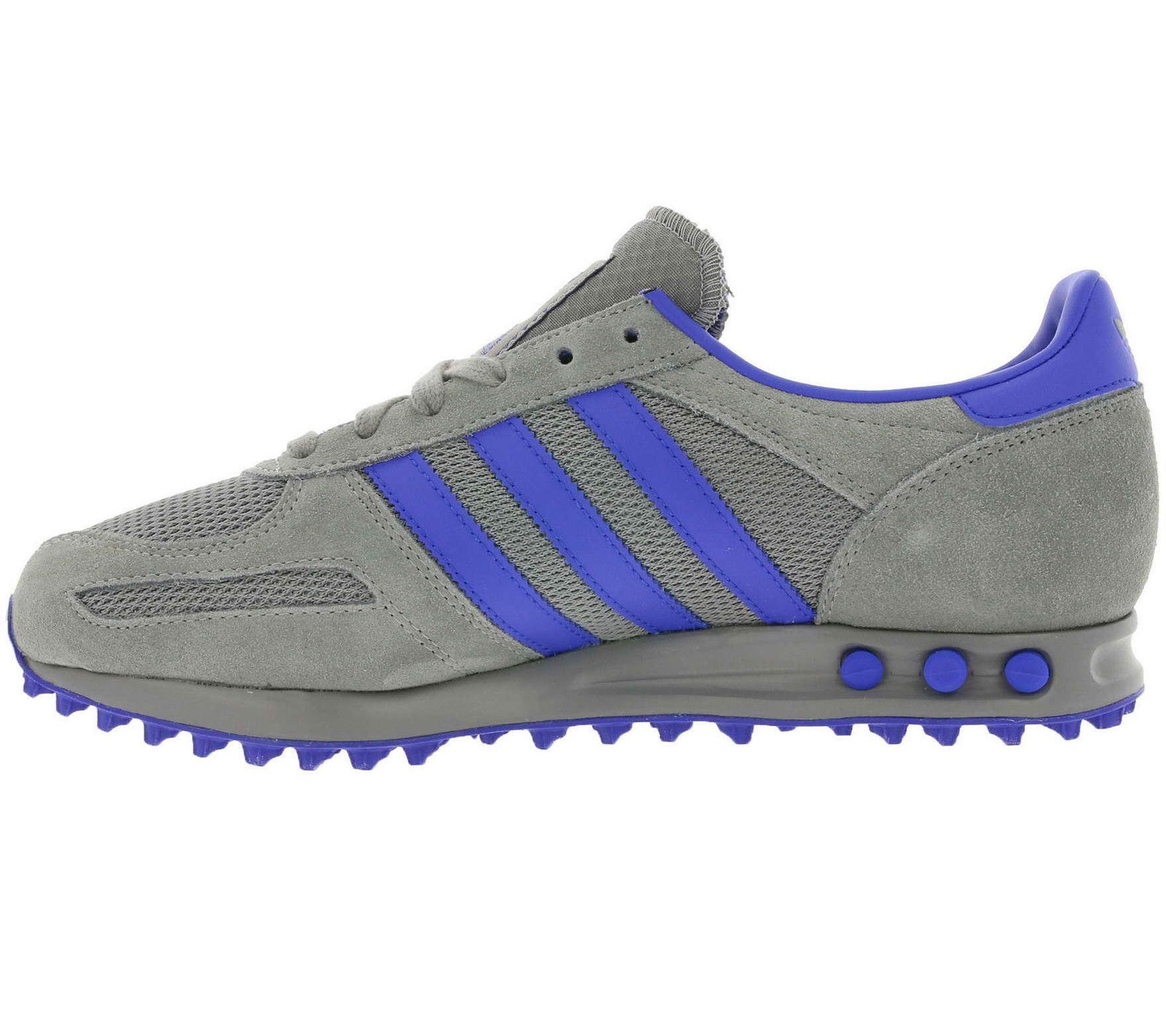 ... adidas Originals LA Trainer Retro Trainers Mens Grey/Blue Casual Sneakers  Shoes