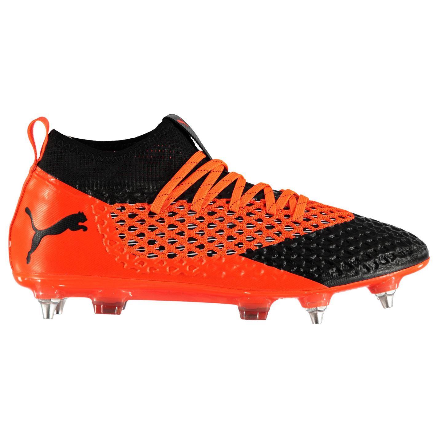 första kurs plockade upp på fötter skott av Puma Future 2.2 SG Soft Ground Football Boots Mens Orange Soccer ...