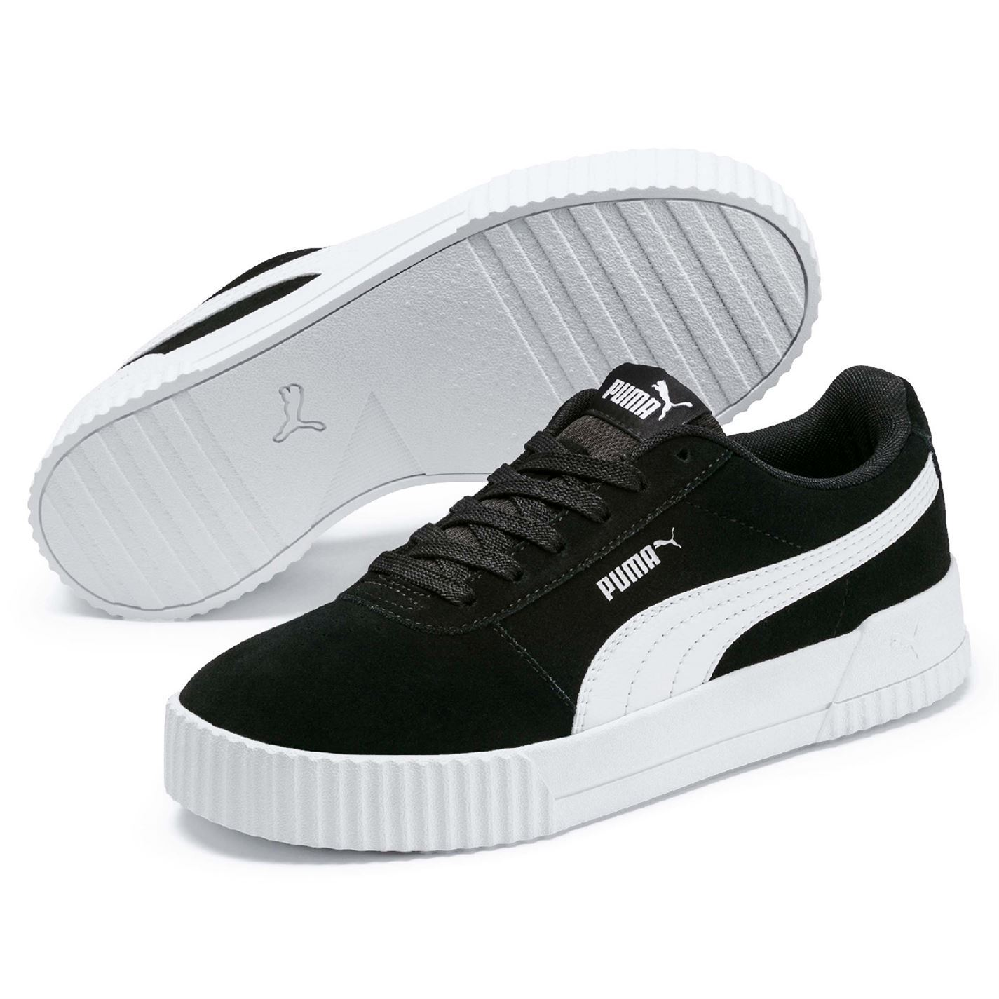 Details about Puma Carina Suede Womens Trainers Shoes Ladies Casual Footwear