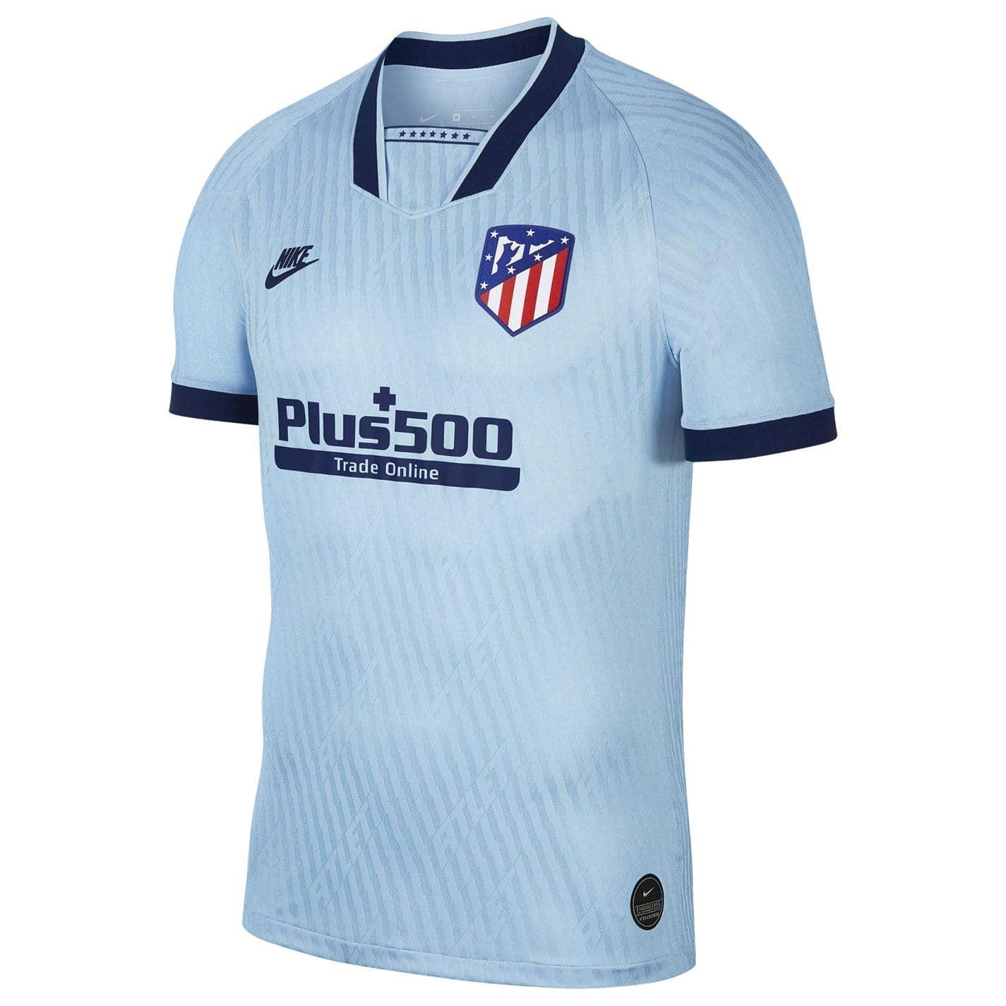 Detalles de Nike Atlético de Madrid Tercera Camisa 2019 2020 Hombres Azul Fútbol Camiseta