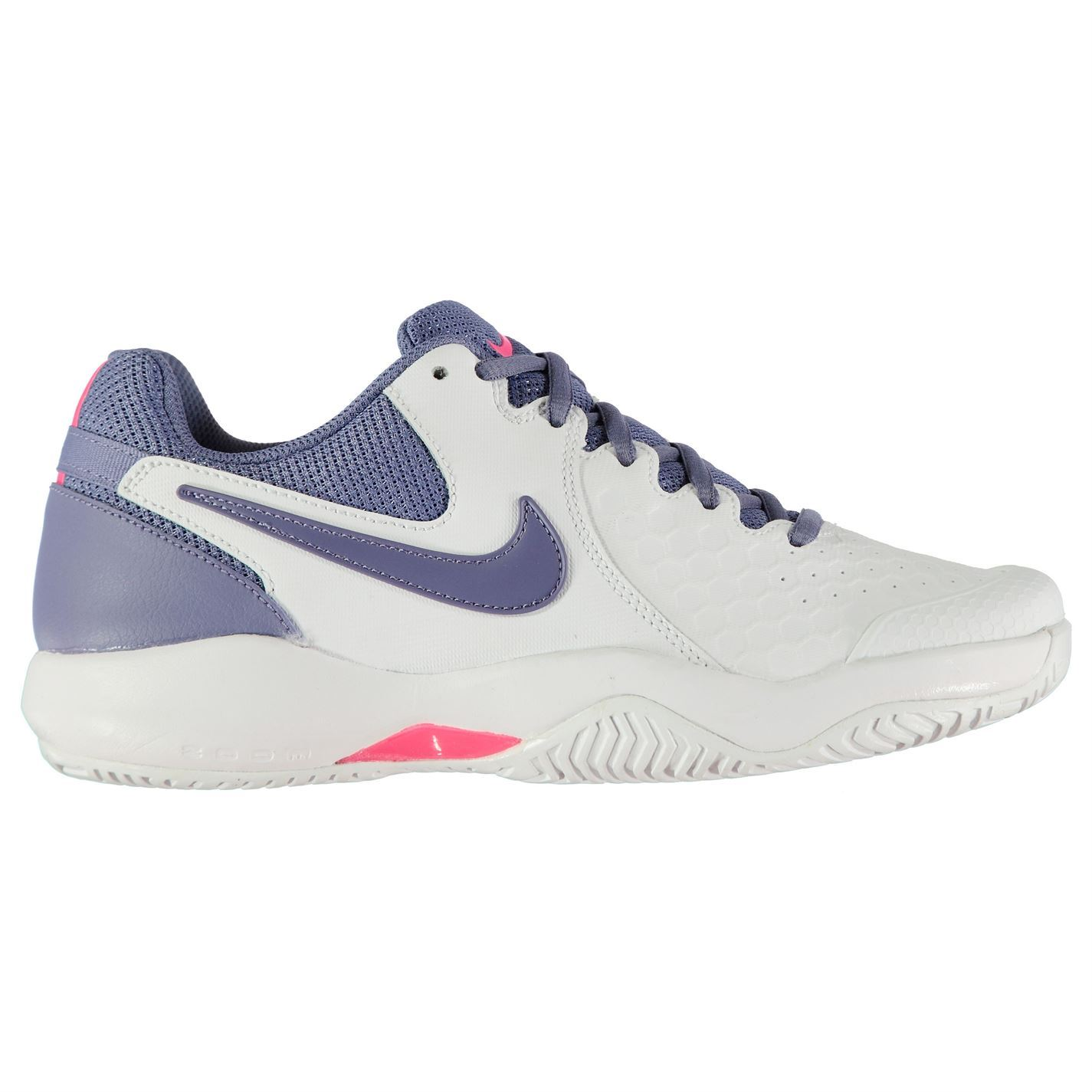 separation shoes e0119 ac9d1 Details about Nike Air Zoom Resistance Tennis Shoes Womens White Purp Court  Trainers Sneakers