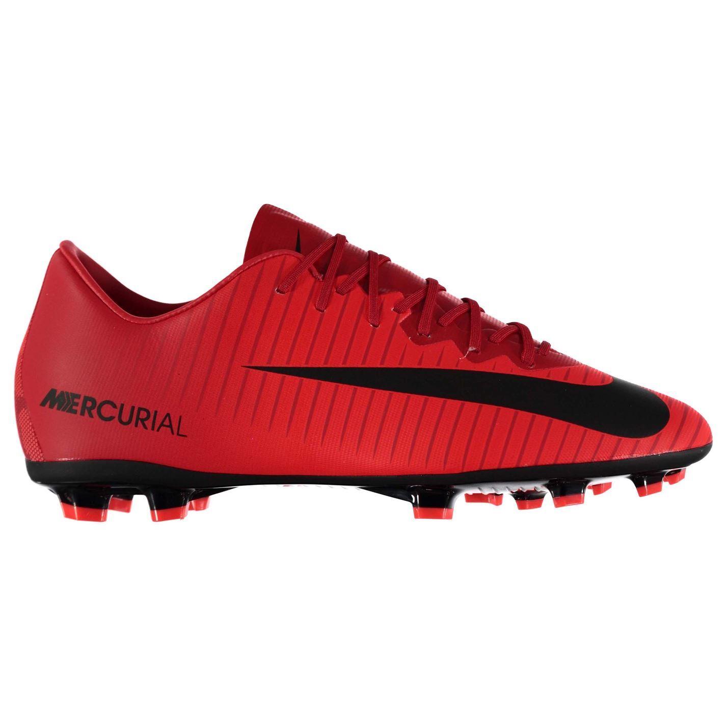Détails sur Nike Mercurial Vapor Sol Ferme Football Bottes Juniors RougeNoir Crampons de
