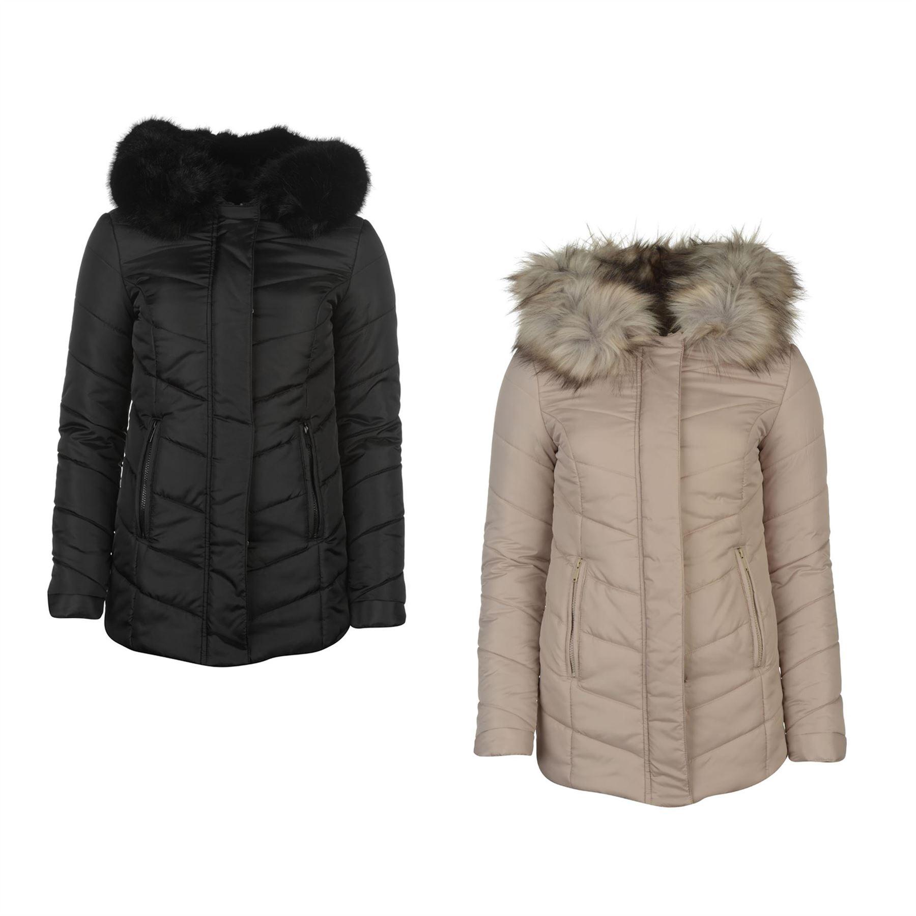 80d83352c Details about Firetrap Blackseal Short Padded Jacket Womens Coats Outerwear