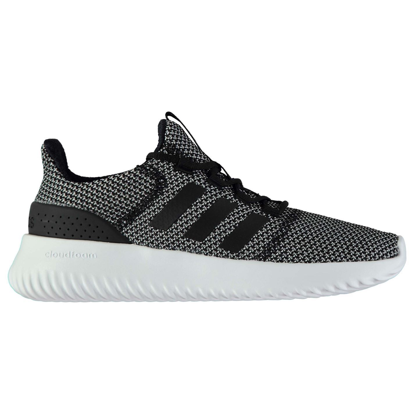 new arrival 6d84f a072e ... adidas Cloudfoam Ultimate Trainers Mens Grey Black White Athletic  Sneakers Shoes ...