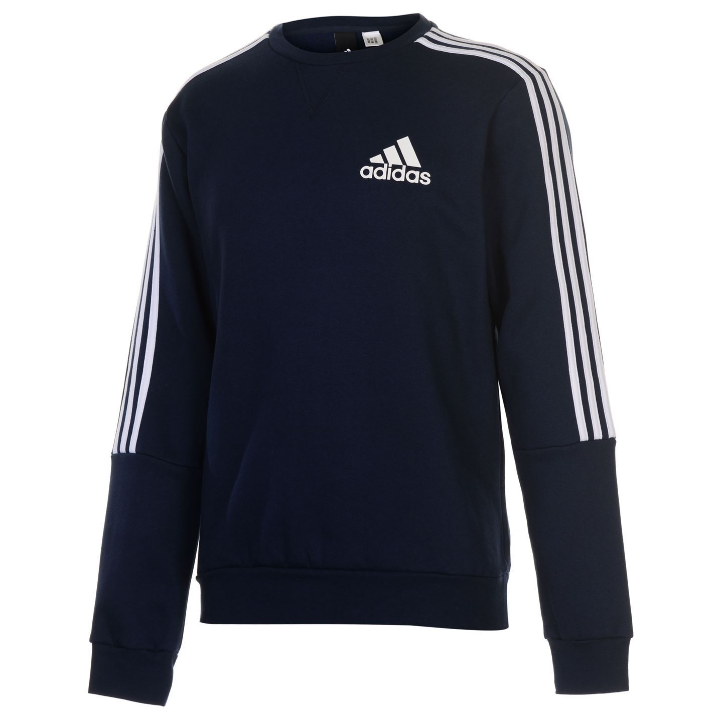Adidas Originals 3 Stripes Crew Mens Jumper Sweater Pullover Sweatshirt New | eBay