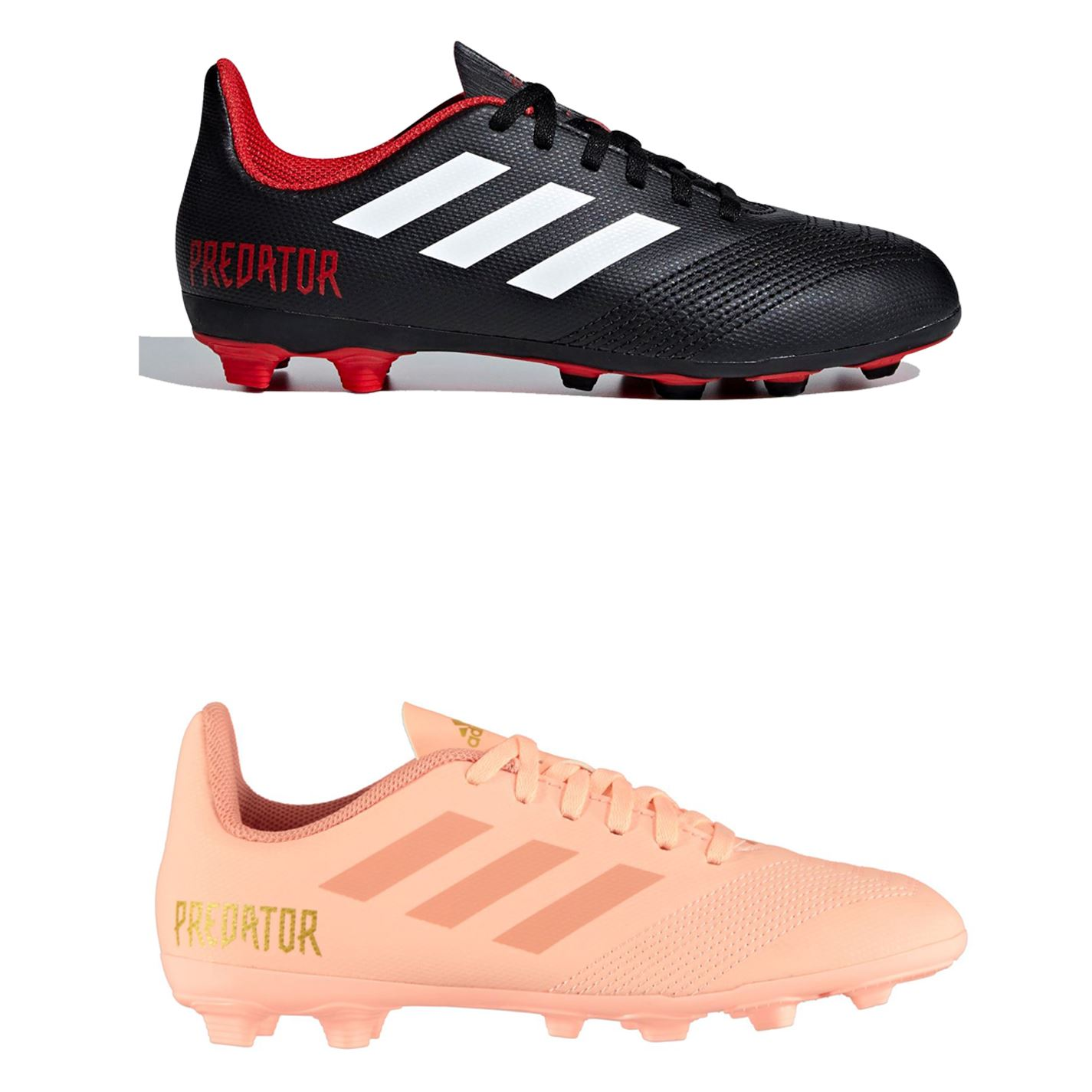 50fd3cbb2 ... adidas Predator 18.4 FG Firm Ground Football Boots Childs Soccer Shoes  Cleats ...