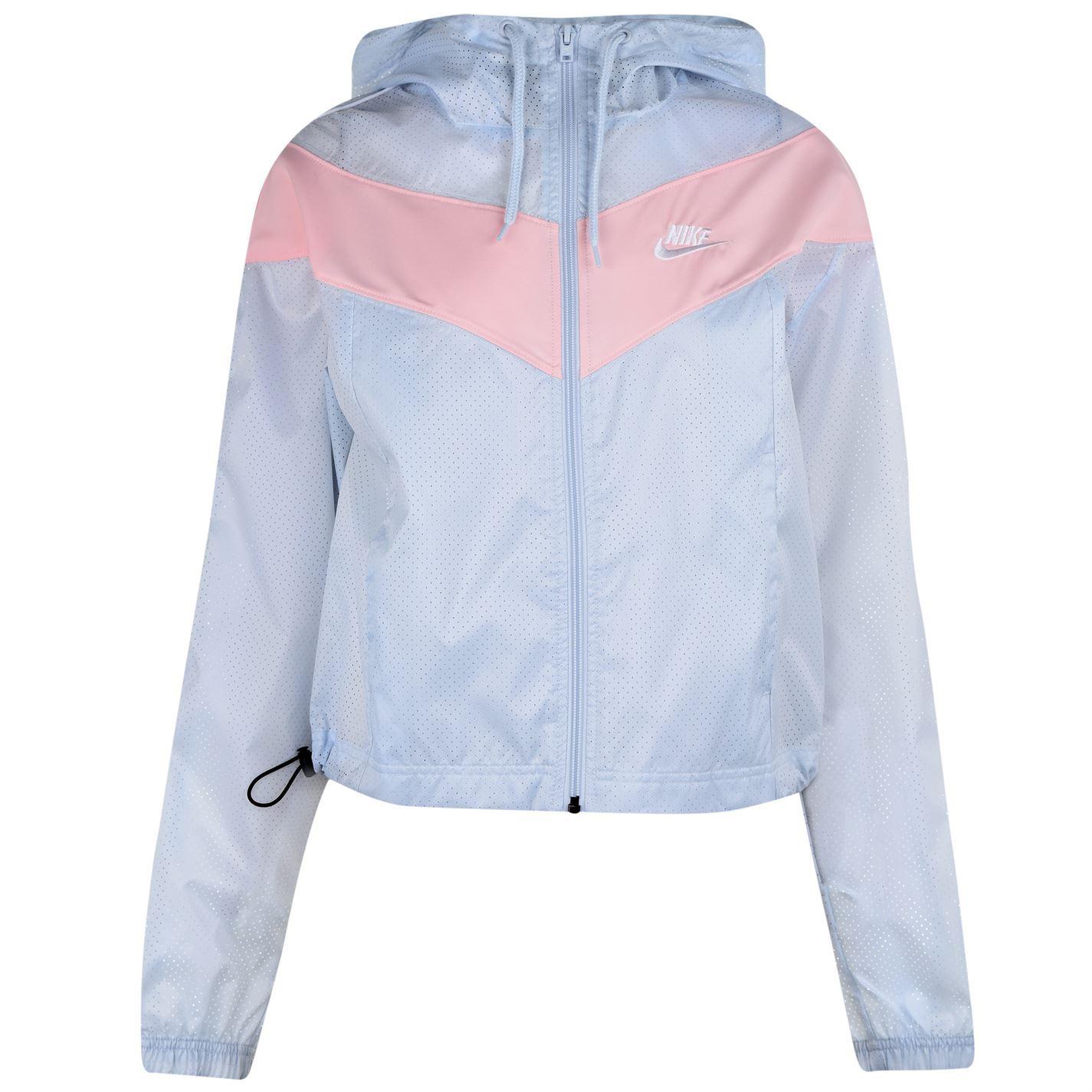 Détails sur Nike Vent Runner Veste Femmes Survêtement BlancRose à Capuche Haut Course