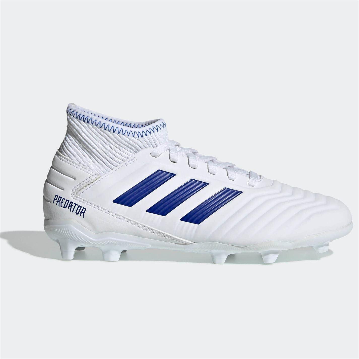 Details about adidas Predator 19.3 s FG Football Boots Child Boys WhiteBlue