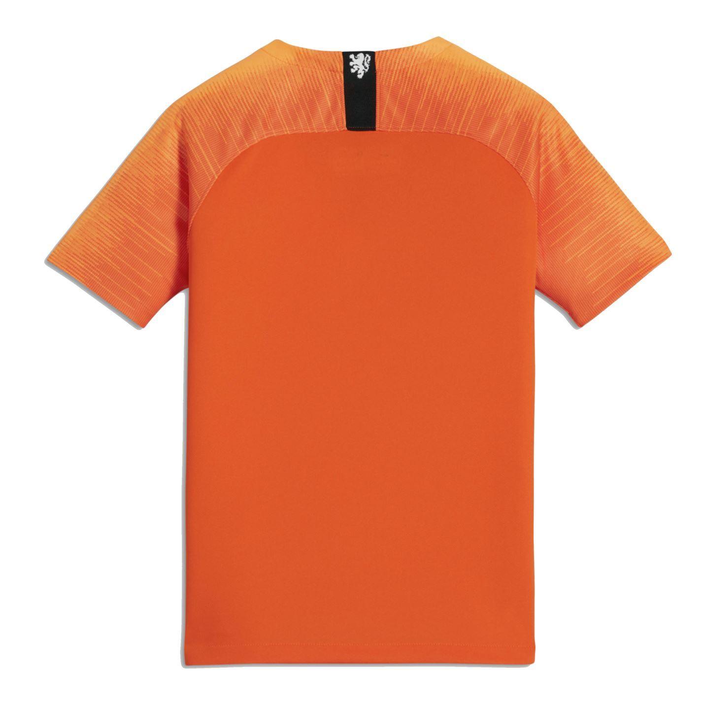 6faa7f6e9 ... Nike Netherlands Home Jersey 2018 Holland Juniors Orange Football  Soccer Shirt