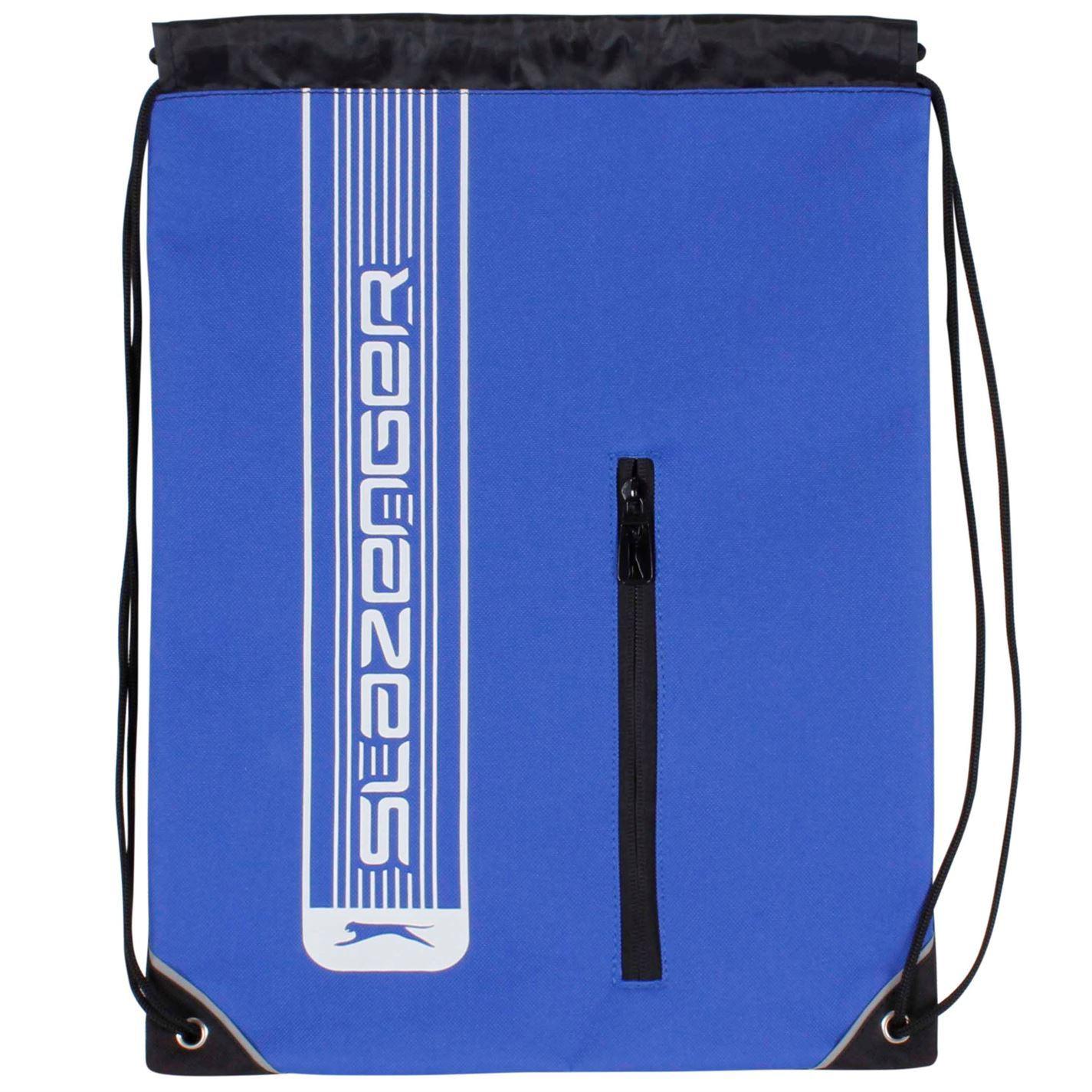 Slazenger Drawstring Gym Bag Royal School PE Sports Swimming Kit Sack